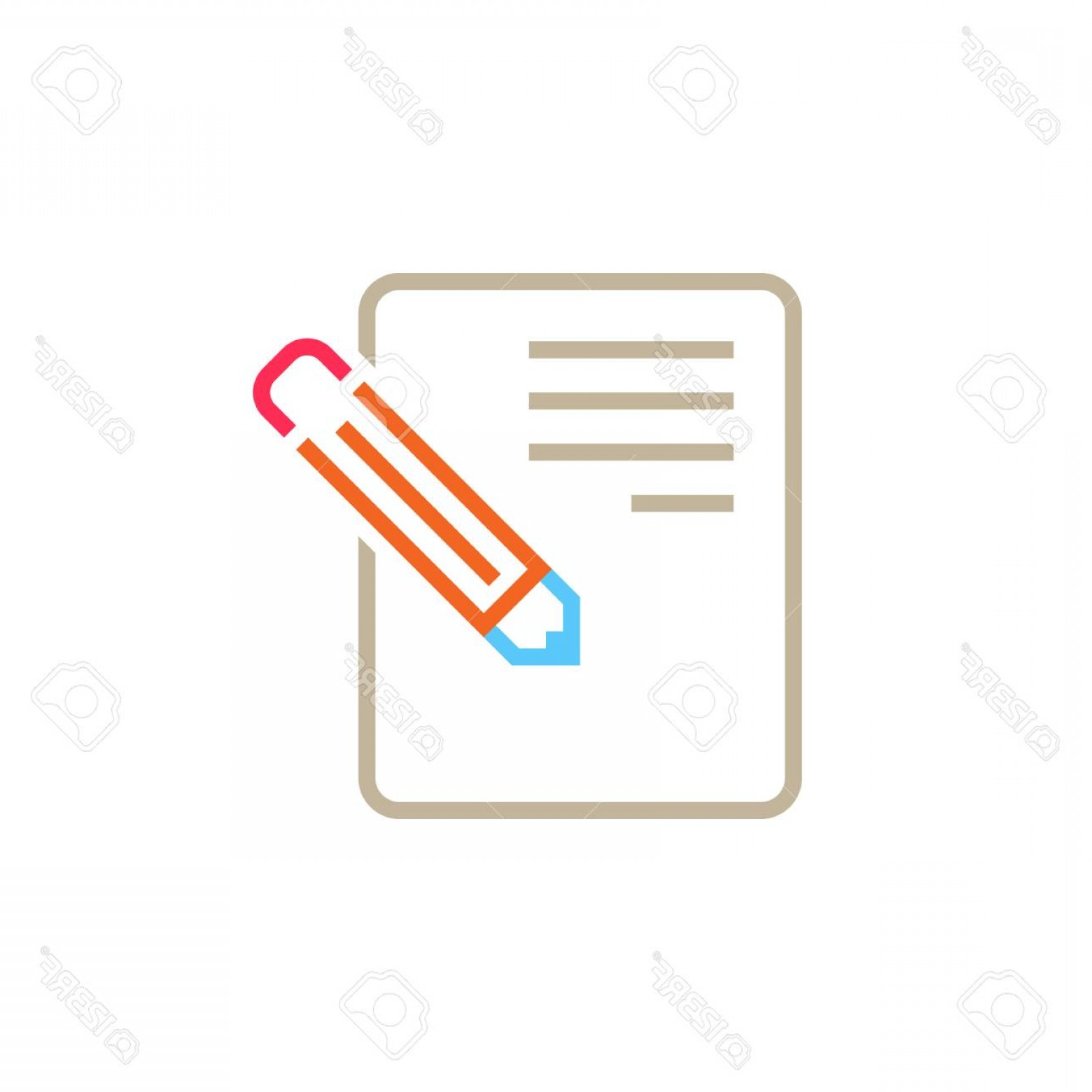 Vector Application Form: Photostock Vector Application Form Line Icon Edit Outline Vector Logo Illustration Linear Pictogram Isolated On White