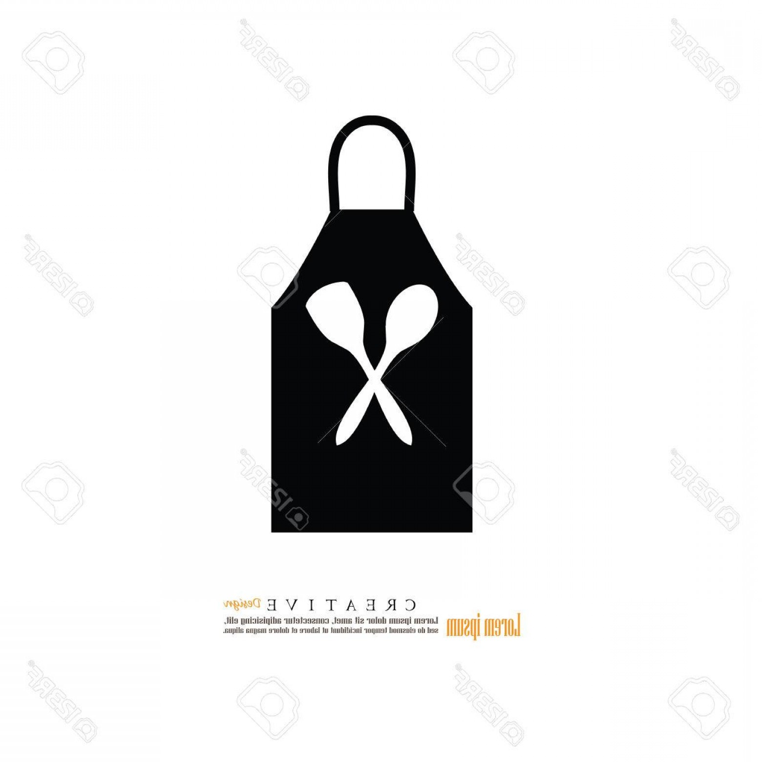 Apron Vector: Photostock Vector Apron Icon Apron Kitchen Apron Vector Illustration