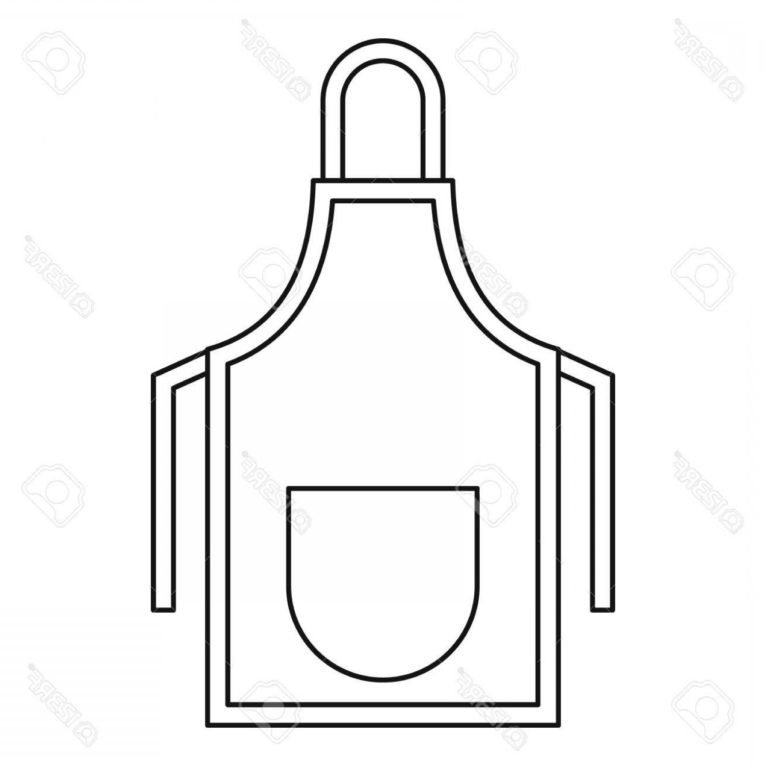 Apron Vector: Photostock Vector Apron Icon Outline Illustration Of Apron Vector Icon For Web