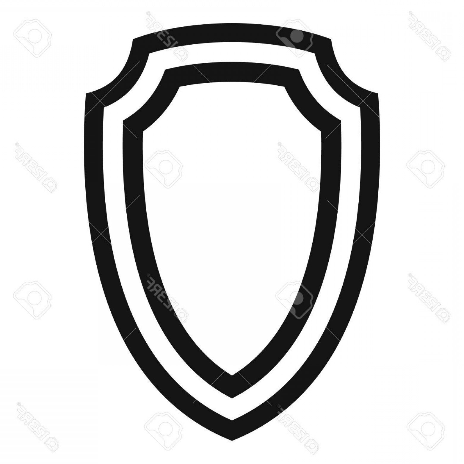 White Shield Vector: Photostock Vector Army Shield Icon Simple Illustration Of Army Shield Vector Icon For Web