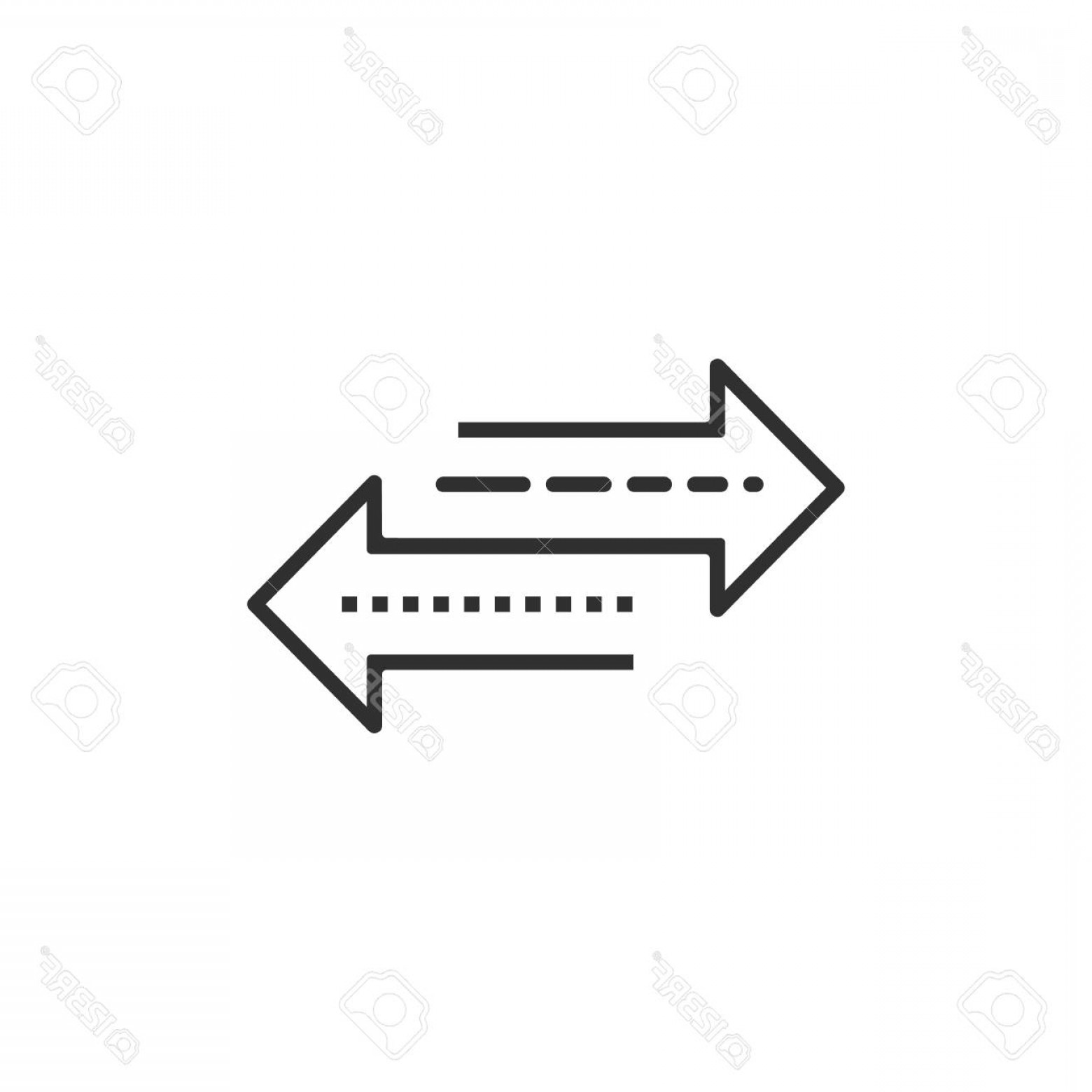Recap Arrow Vectors: Photostock Vector Arrow To Left And Right Line Icon Isolated On White Background Vector Illustration Eps