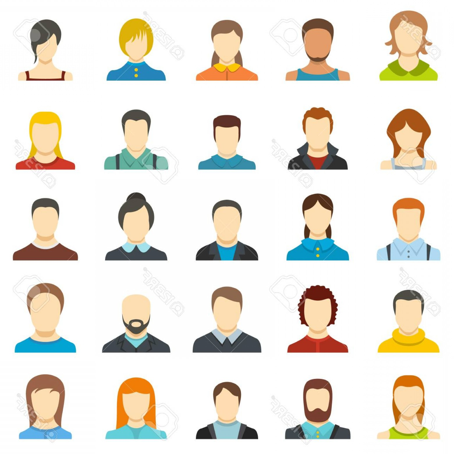User Icon Vector Free: Photostock Vector Avatar User Icon Set Isolated Flat Illustration Of Avatar User Vector Icons For Web