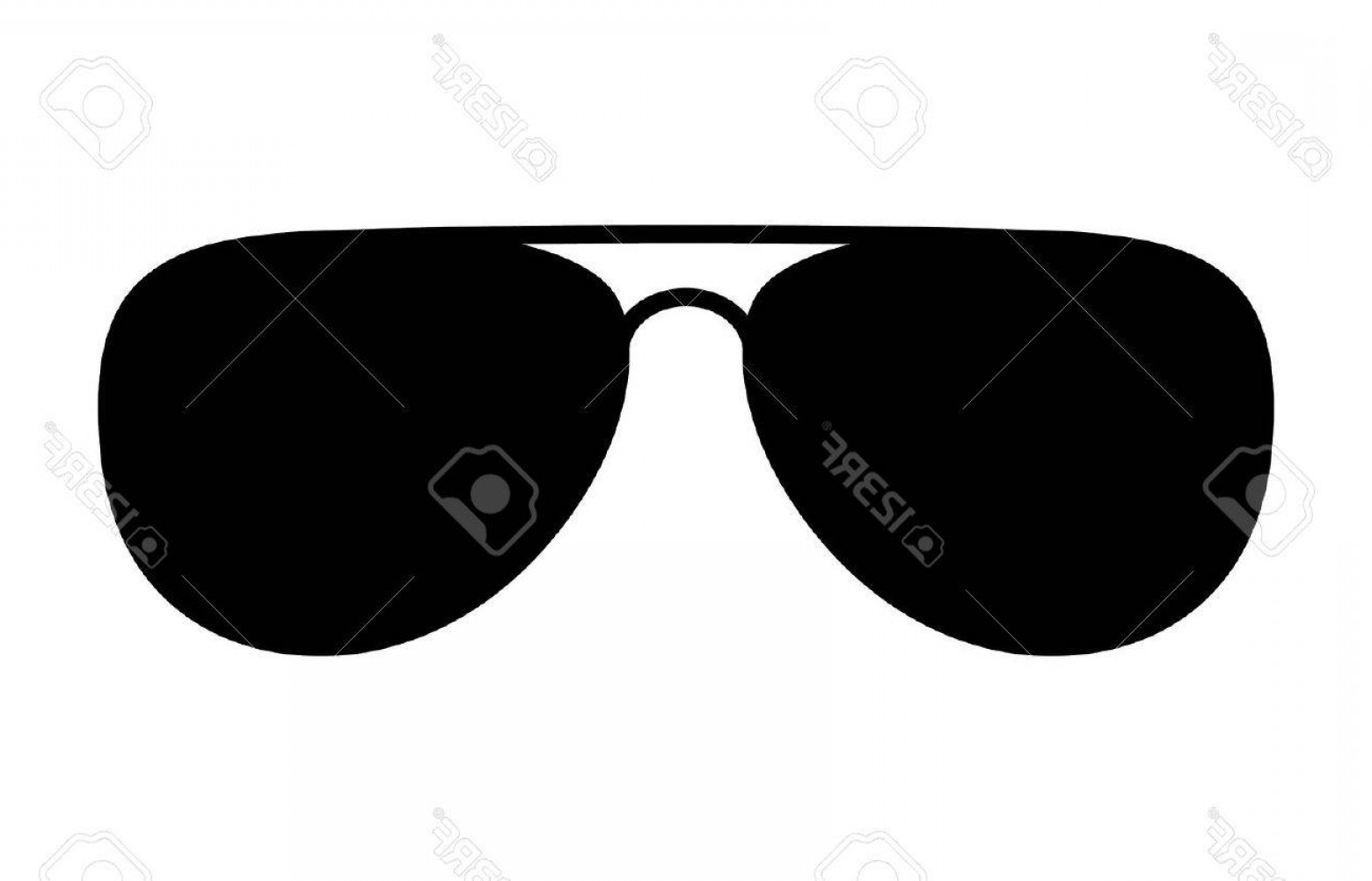 Glasses Vector Flat: Photostock Vector Aviator Sunglasses Shades Protective Eyewear Flat Icon For Apps And Websites