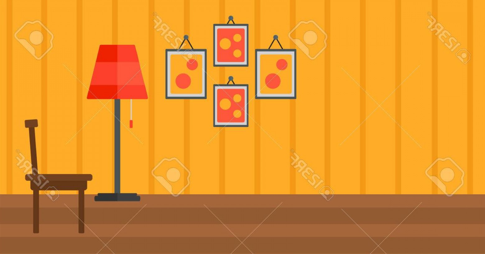 Vector Background For Living Room: Photostock Vector Background Of Living Room Vector Flat Design Illustration Horizontal Layout