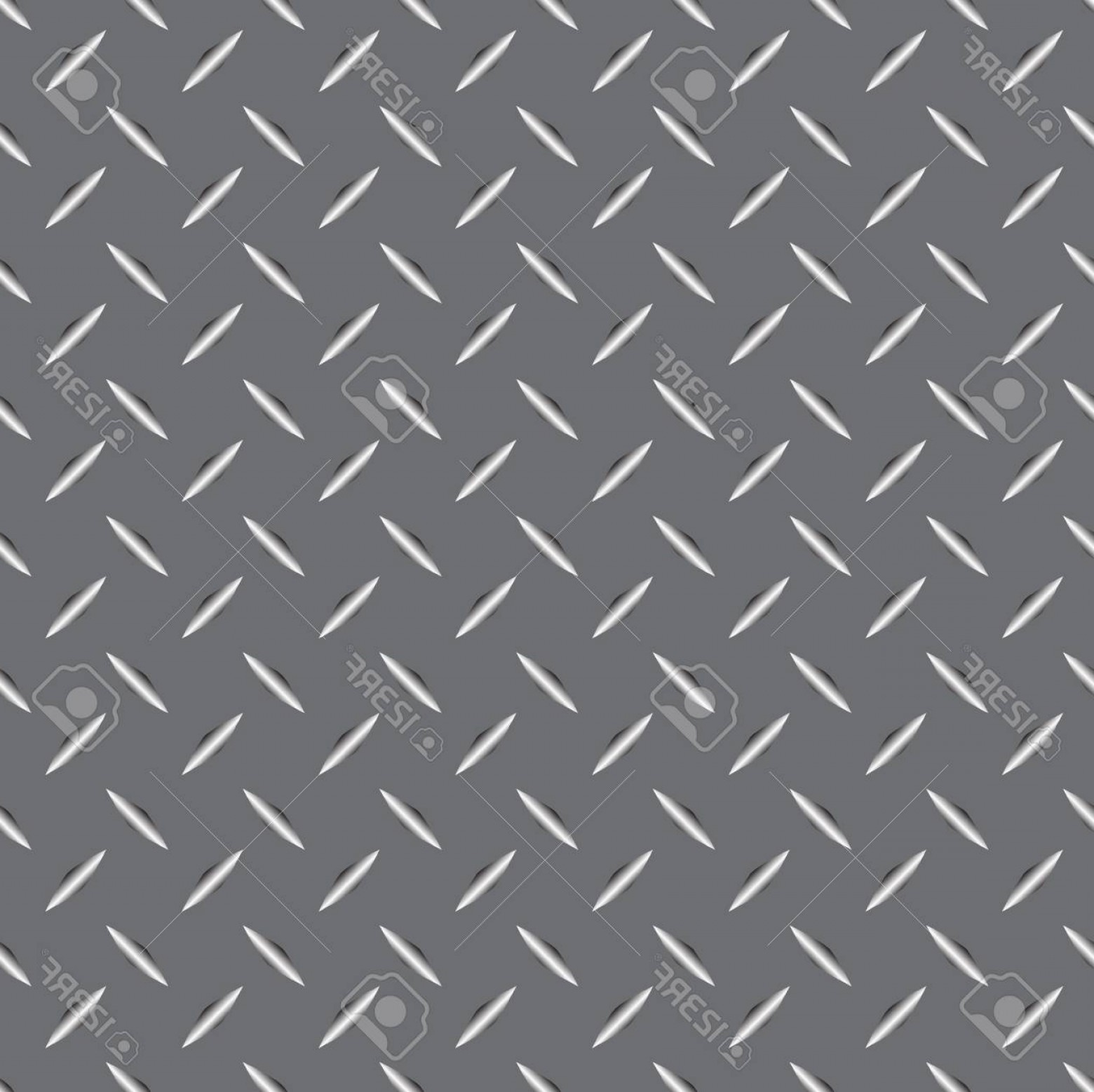 Diamond Plate Vector Pattern: Photostock Vector Background Of Metal Diamond Plate In Silver Color Seamless