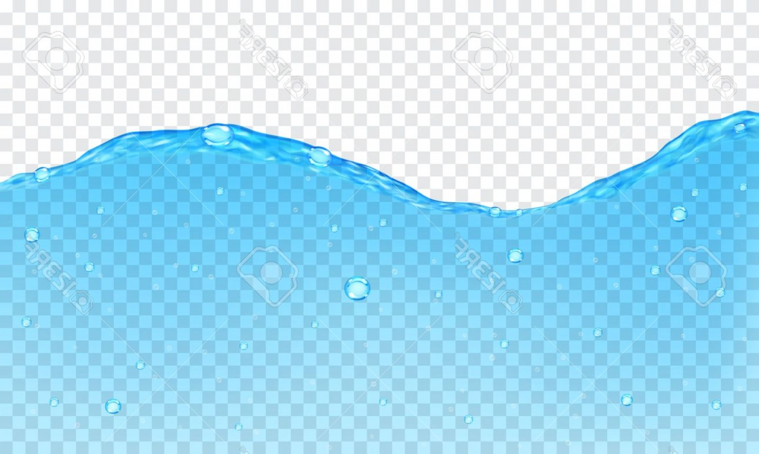 Transparent Water Vector: Photostock Vector Background Of Transparent Water With Bubbles