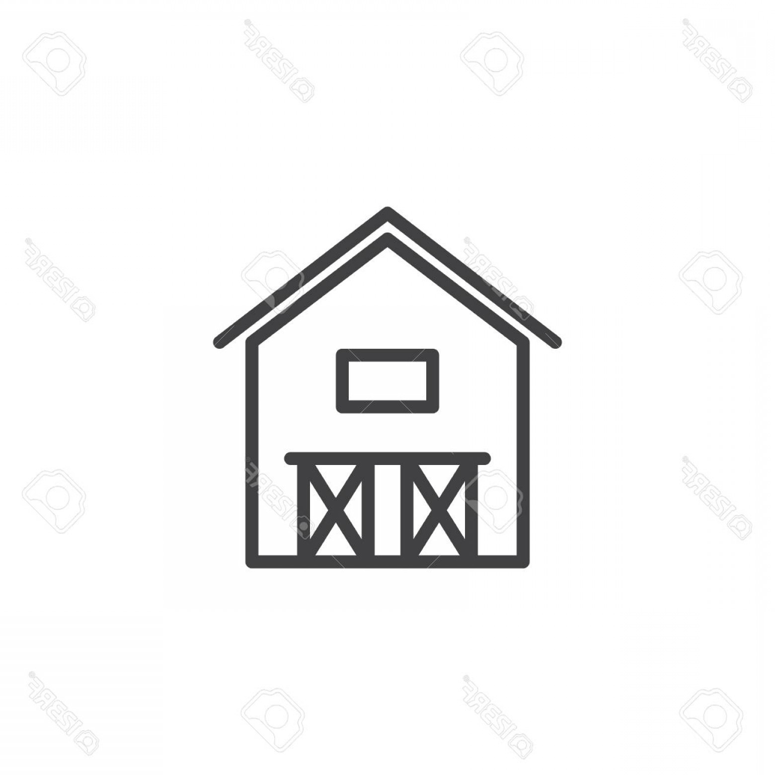 Barn Outline Vector: Photostock Vector Barn House Line Icon Outline Vector Sign Linear Style Pictogram Isolated On White Hangar Symbol Logo