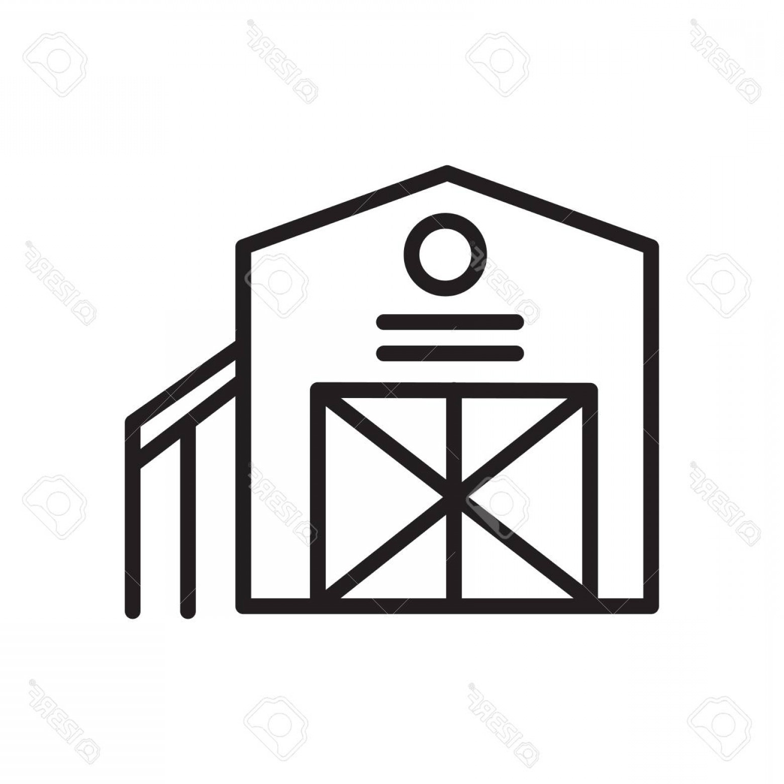 Barn Outline Vector: Photostock Vector Barn Icon Vector Isolated On White Background Barn Transparent Sign Linear Symbol And Stroke Design