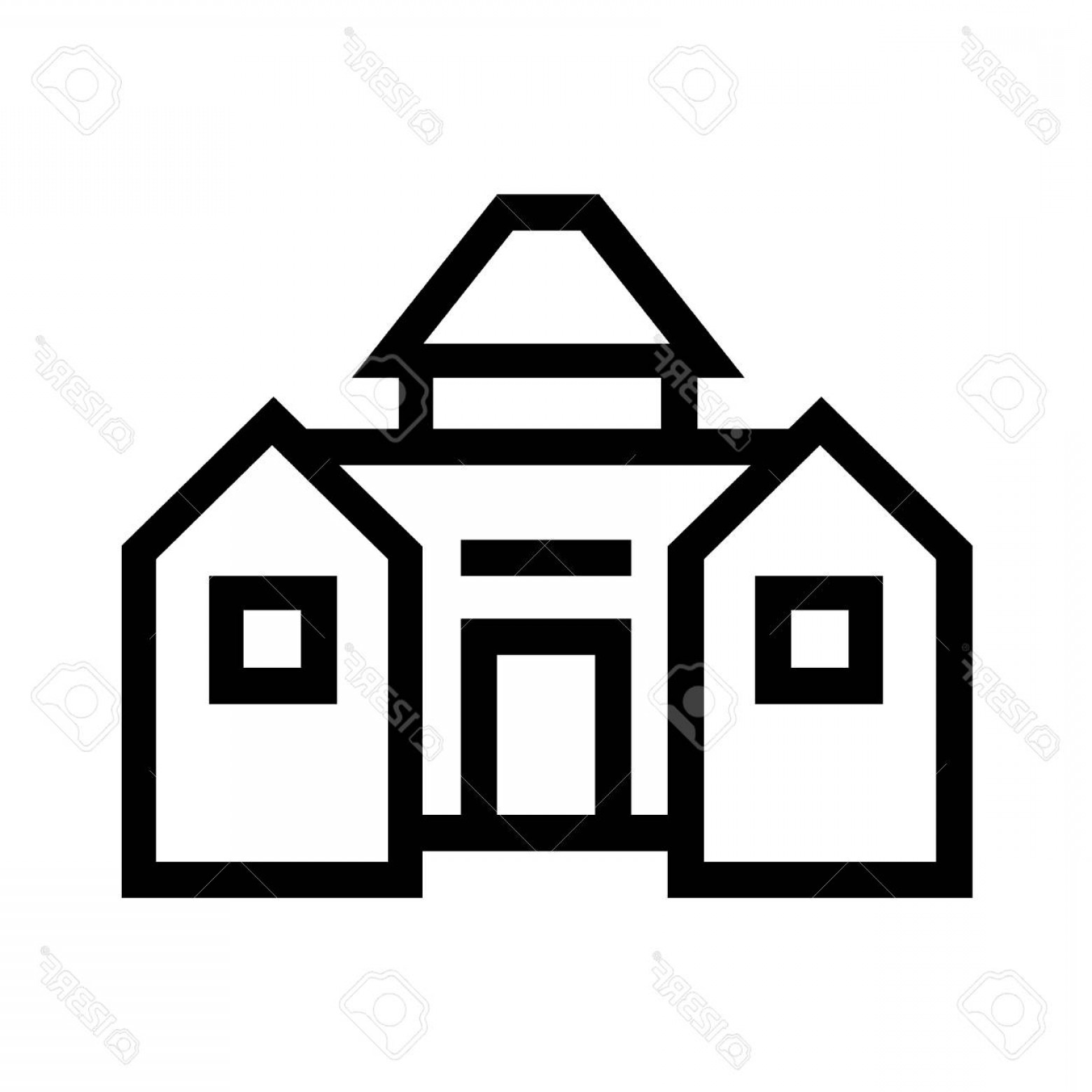 Barn Outline Vector: Photostock Vector Barn Line Icon Outline Vector Sign Linear Style Pictogram On White Background