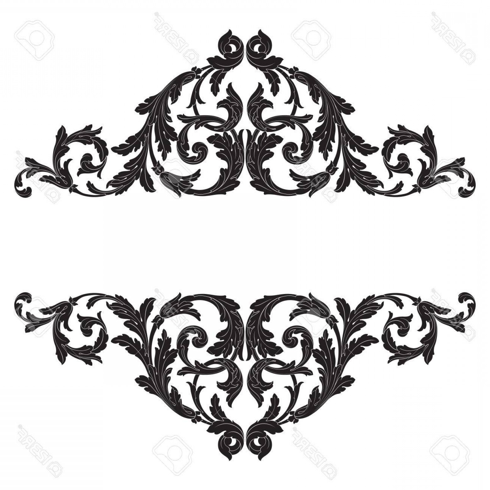 Baroque Vector Clip Art: Photostock Vector Baroque Vector Vintage Elements For Design Decorative Design Element Filigree Calligraphy Vector You