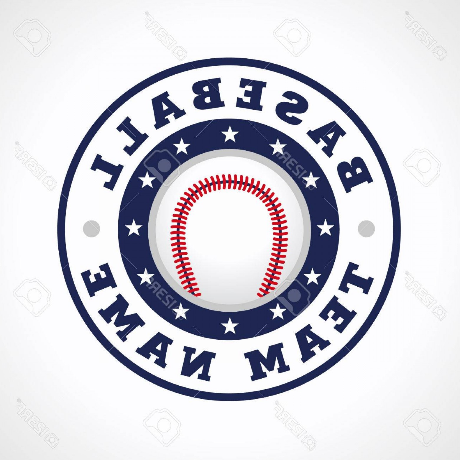 National League Baseball Logo Vector: Photostock Vector Baseball Vector Logo Branding Symbol Of Teams National Competitions Union Matches Leagues Or Sport E