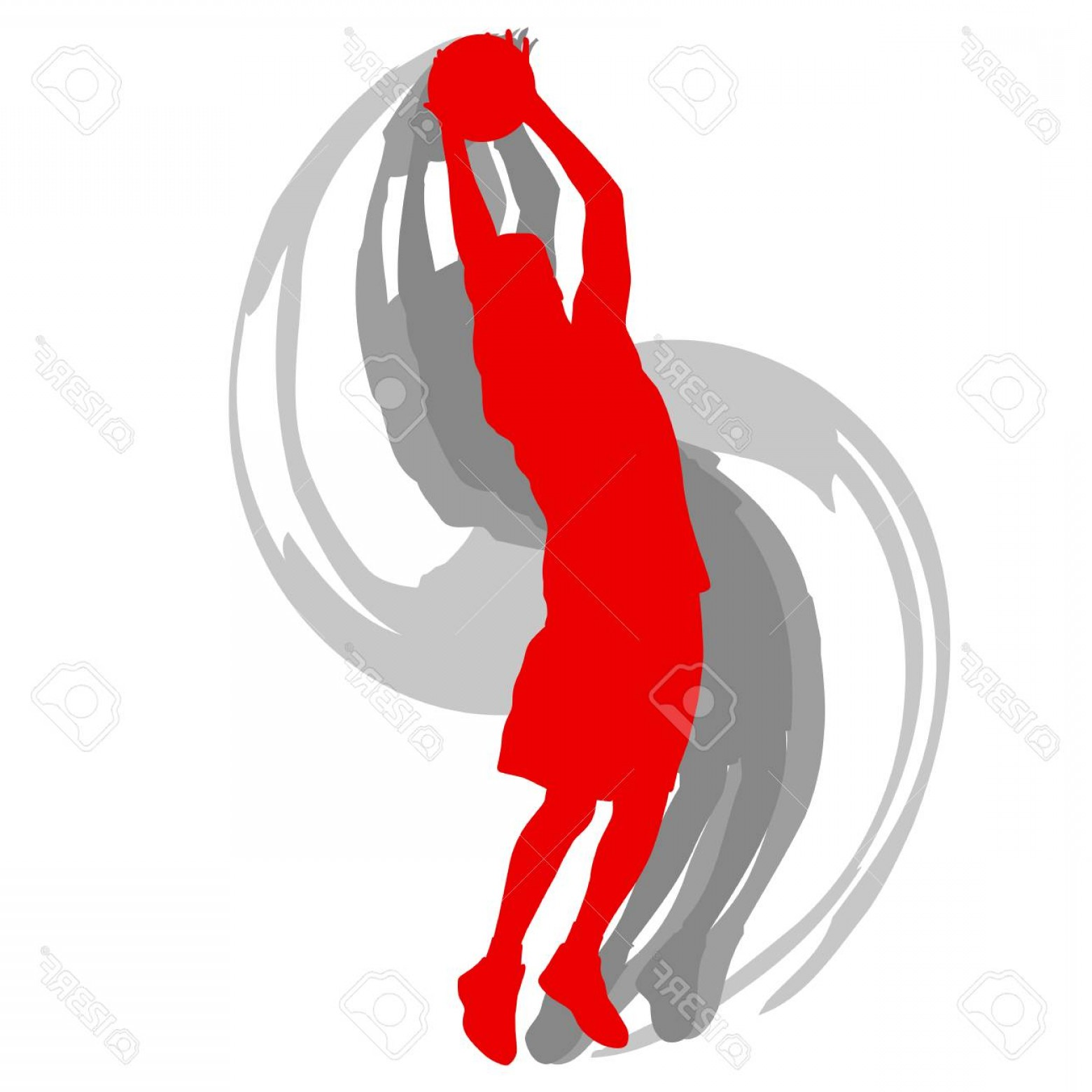 Motion Basketball Vector: Photostock Vector Basketball Player In Action Vector Background Concept Motion