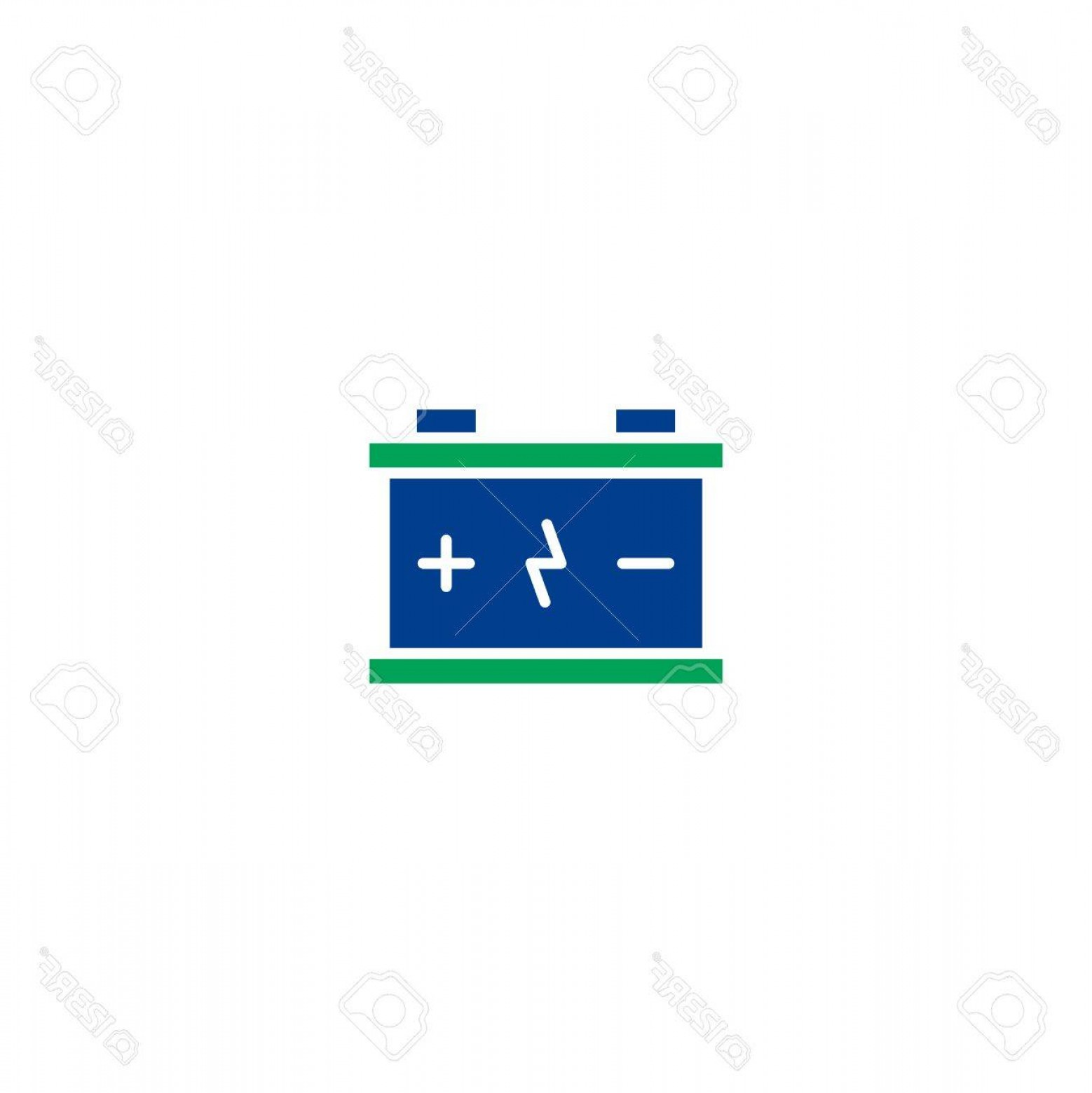 Battery Electricity Vector Images: Photostock Vector Battery Flat Icon Single High Quality Symbol Of Line Electricity Vector For Web Design Or Mobile App