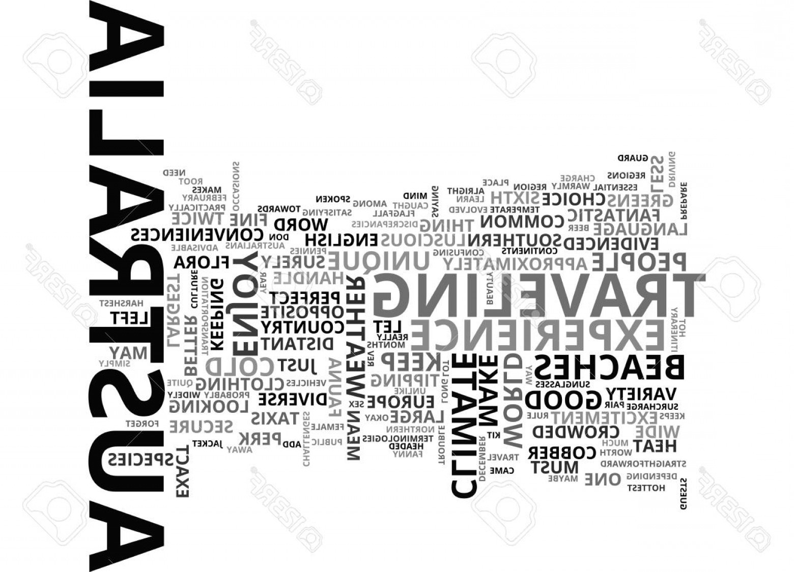 Vector Straightforward: Photostock Vector Beat The Heat In Australia Text Word Cloud Concept