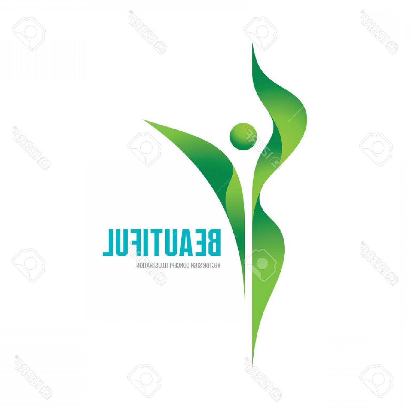 Health Vector Logo: Photostock Vector Beatiful Vector Logo Concept Illustration Health Logo Healthy Logo Beauty Salon Logo Fitness Logo Wo