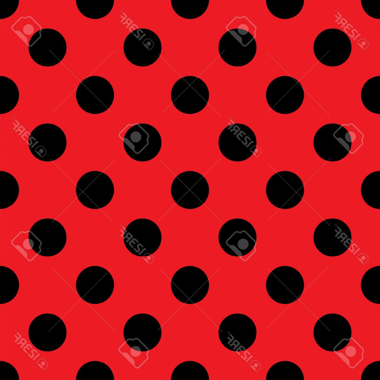 Polka Dot Background Vector Y: Photostock Vector Big Polka Dot Seamless Pattern Abstract Fashion Red And Black Texture Casual Stylish Template Graphi