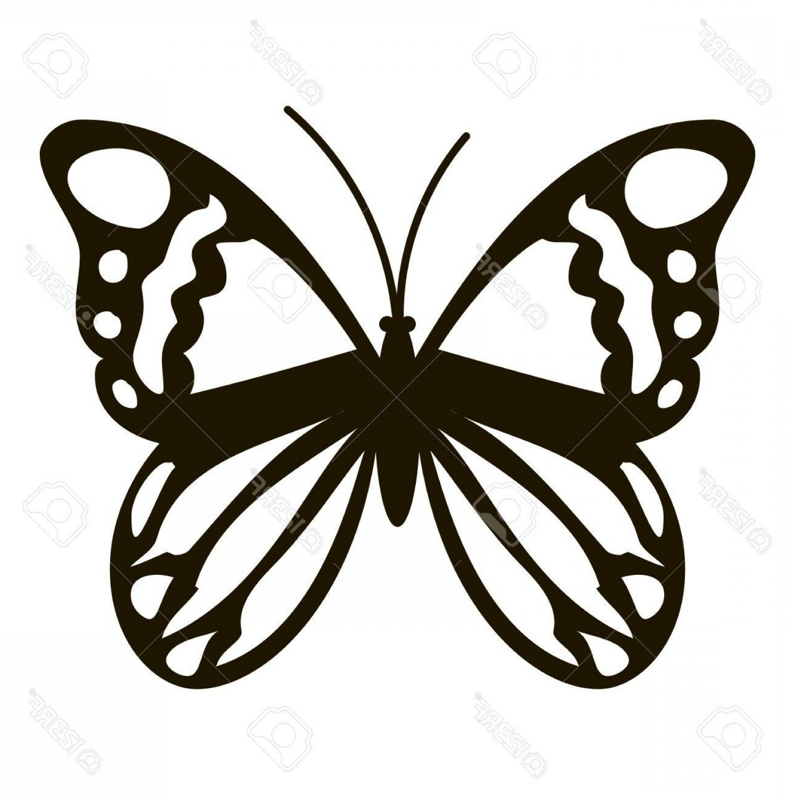 Mariposa Vector: Photostock Vector Black Butterfly Icon Simple Illustration Of Black Butterfly Vector Icon For Web