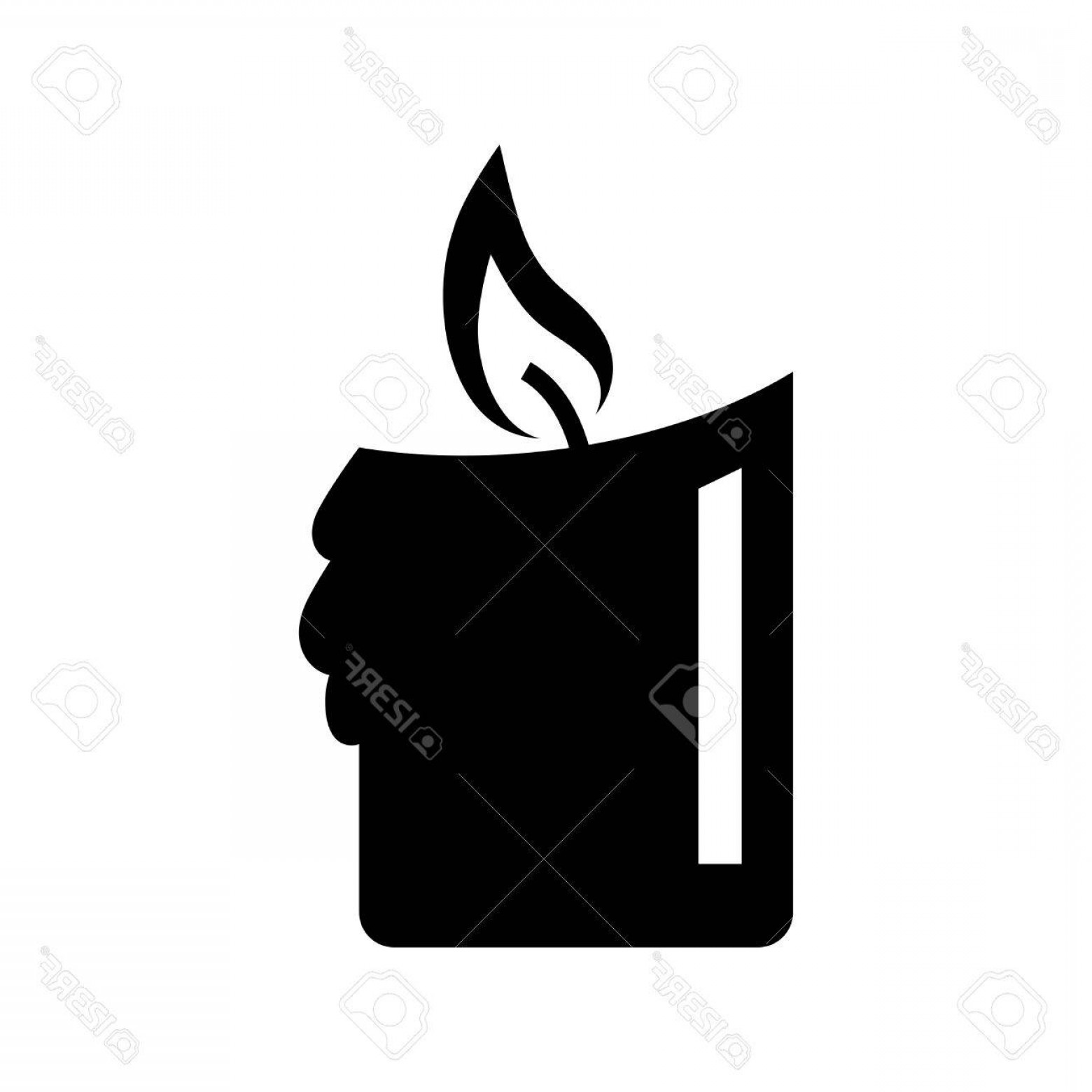 Candle Vector Black: Photostock Vector Black Candle Vector Icon On White Background