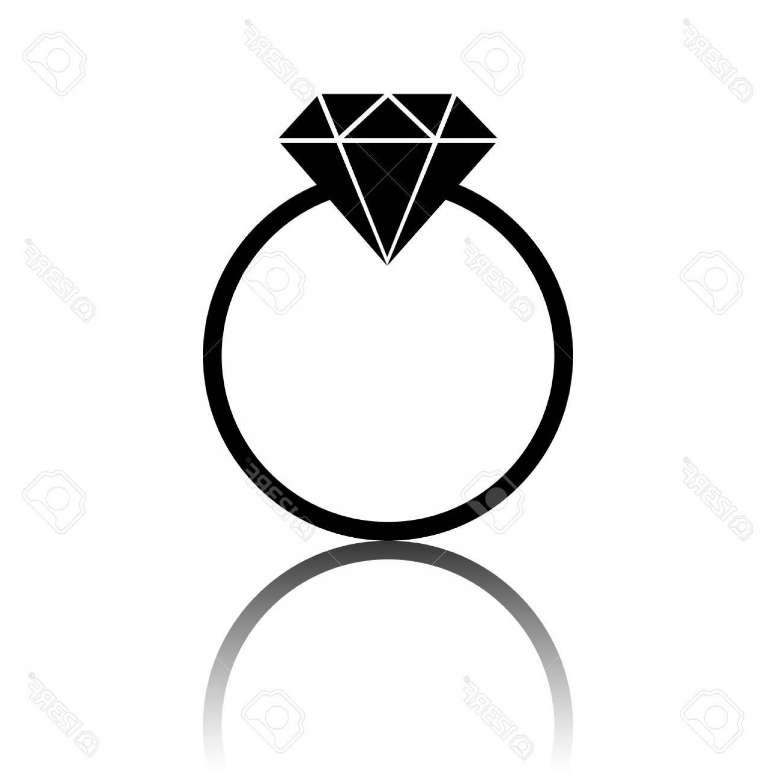 Black Diamond Vector Clip Art: Photostock Vector Black Diamond Icon Vector Illustration With Shadow