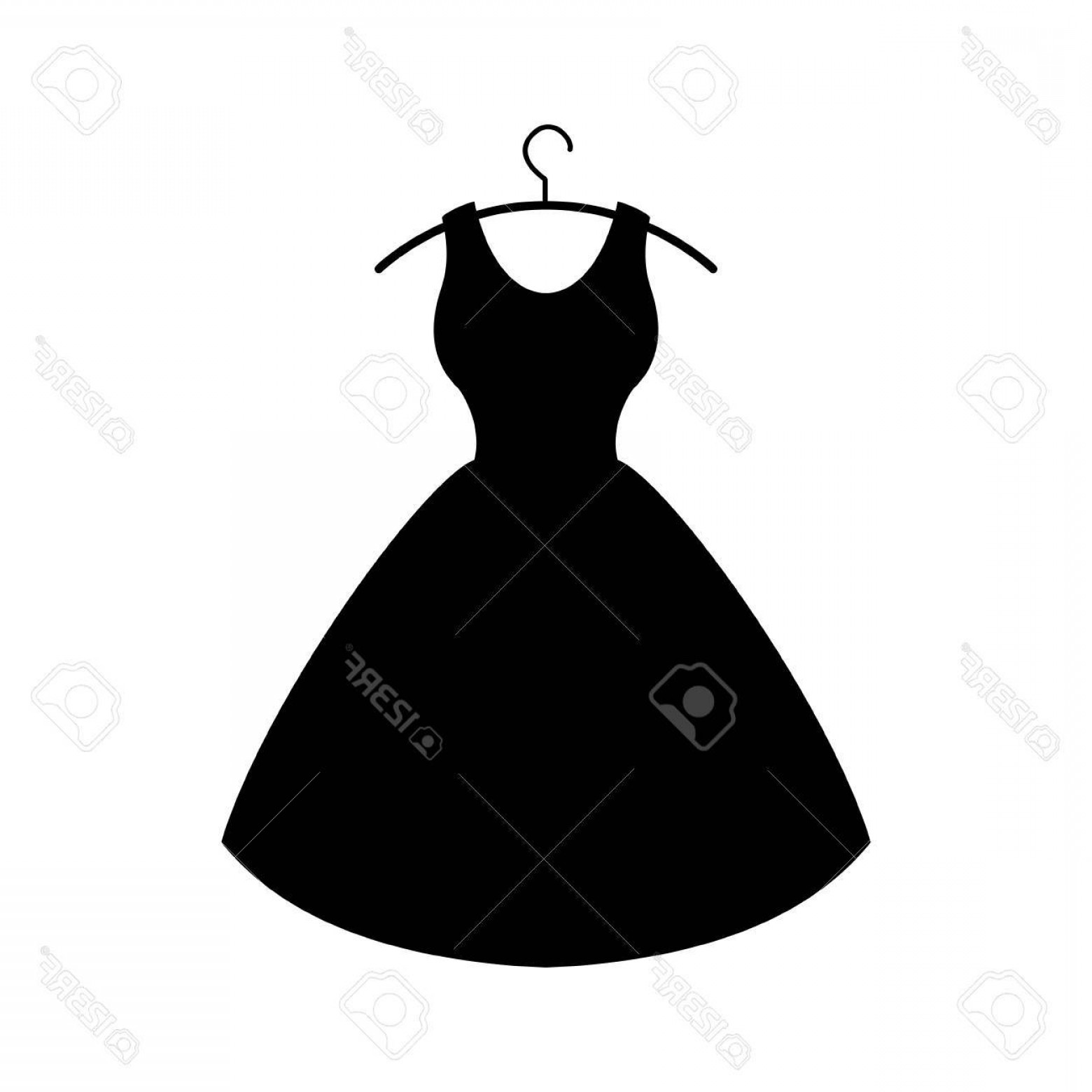 Vector Images Of Black And White Dresses: Photostock Vector Black Dress On White Background Vector Icon