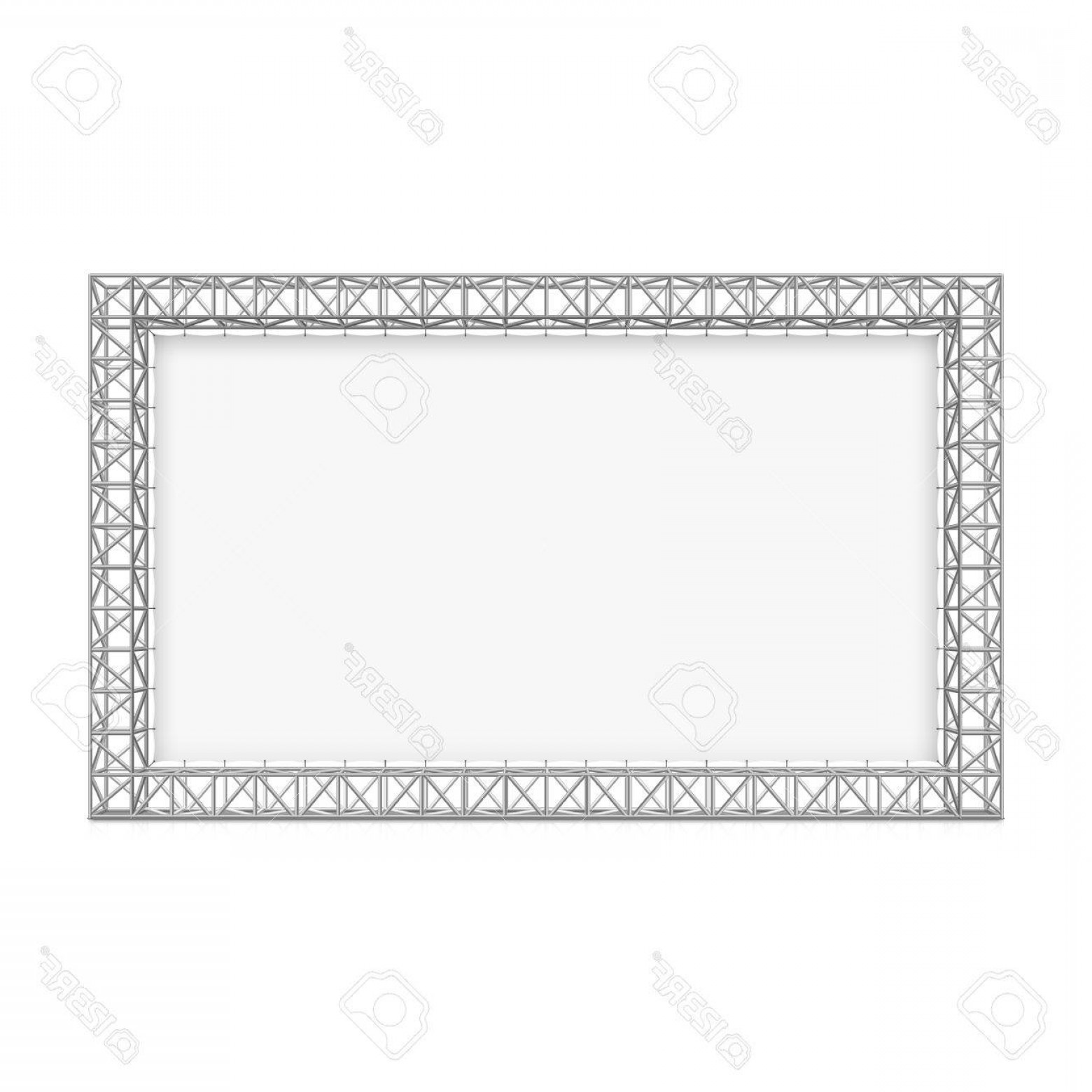 Aluminum Truss Design Vector: Photostock Vector Blank Advertising Outdoor Banner On Truss System