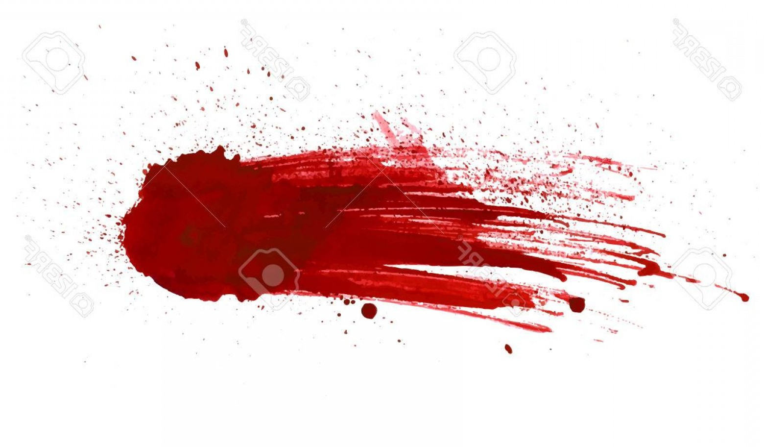 Vector Blood: Photostock Vector Blood Splatter Painted Vector Isolated On White For Design Red Dripping Blood Drop