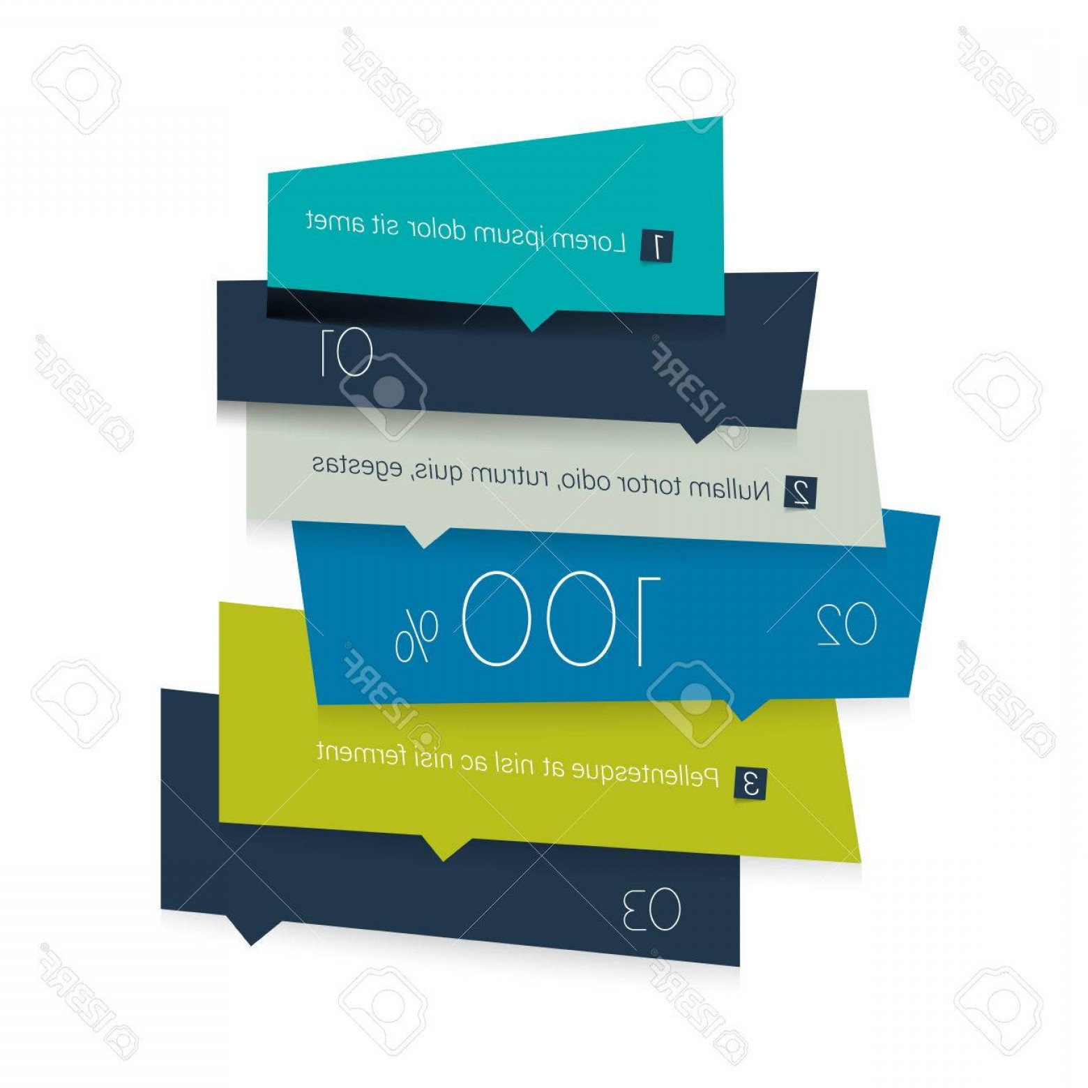 Numbered Tab Vectors In Blue: Photostock Vector Blue Tab Schedule Square Banner Template Minimalistic Vector Design Infographic
