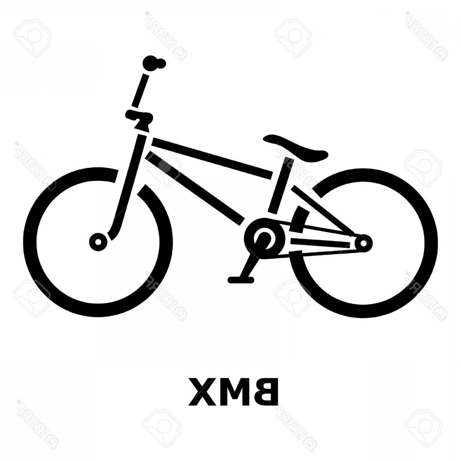 BMX Bike Tire Vector: Photostock Vector Bmx Bike Icon Simple Illustration Of Bmx Bike Vector Icon For Web