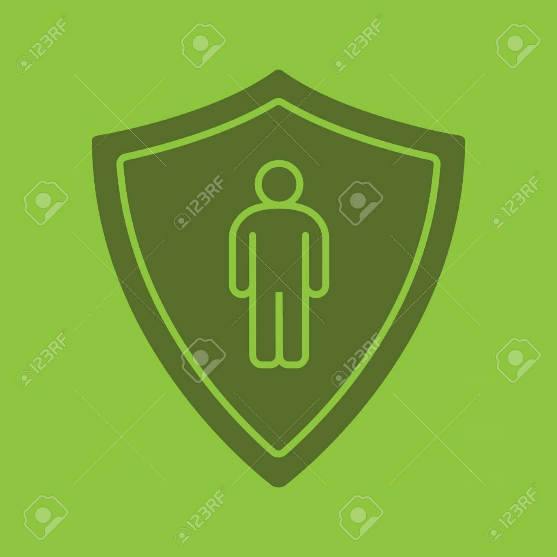 Color Guard Silhouette Vector: Photostock Vector Bodyguard Glyph Color Icon Silhouette Symbol Protection Shield With Man Negative Space Vector Isolat