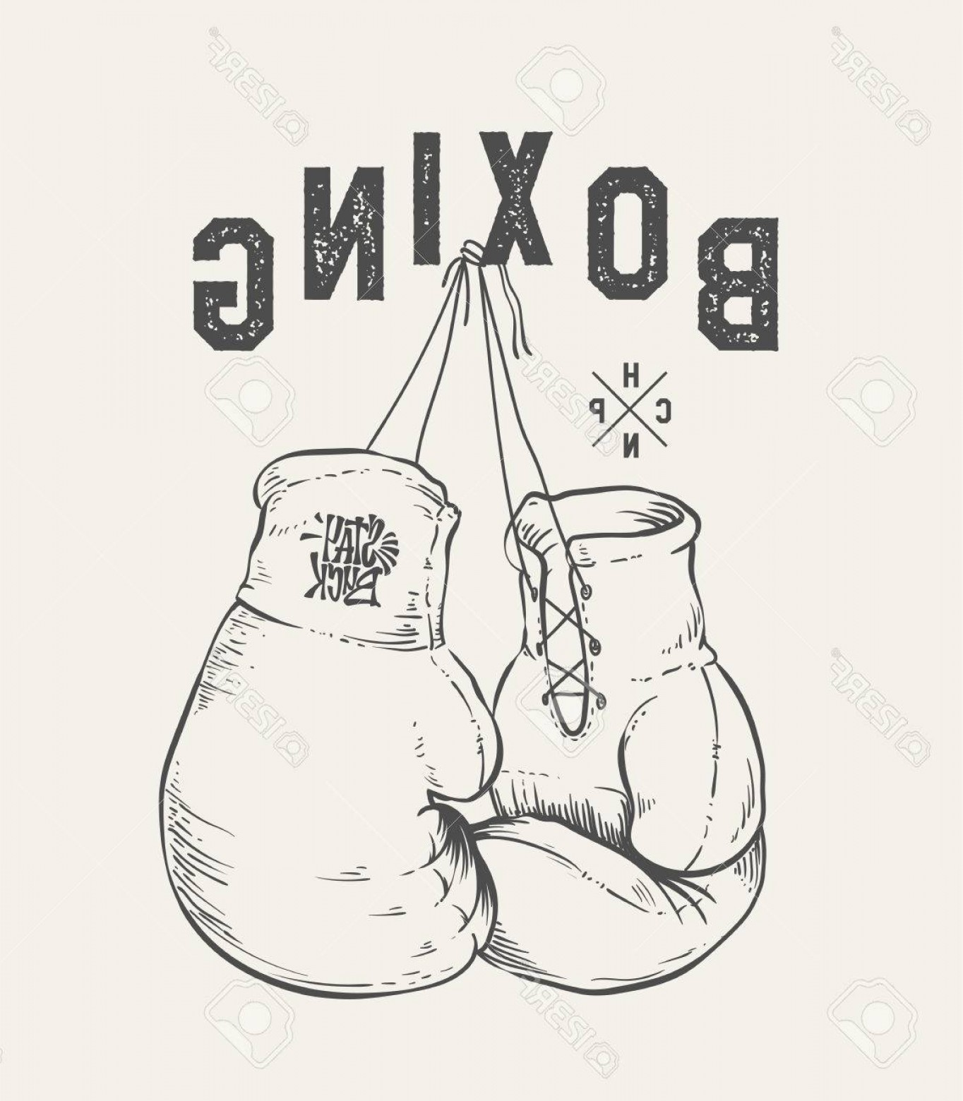 Pictures Of Boxing Gloves Vector Art: Photostock Vector Boxing Gloves Vector Illustration Print Design T Shirt