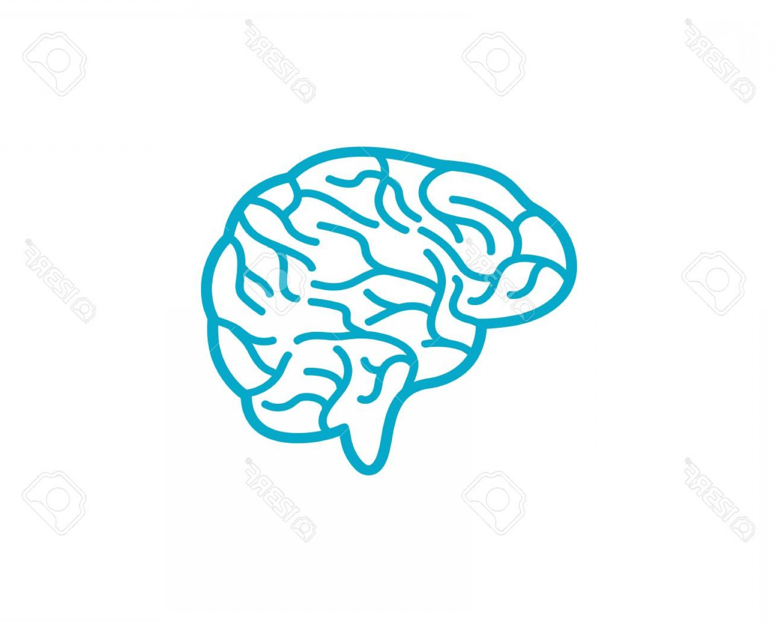 Brain Vector Art: Photostock Vector Brain Vector Illustration Icon Template