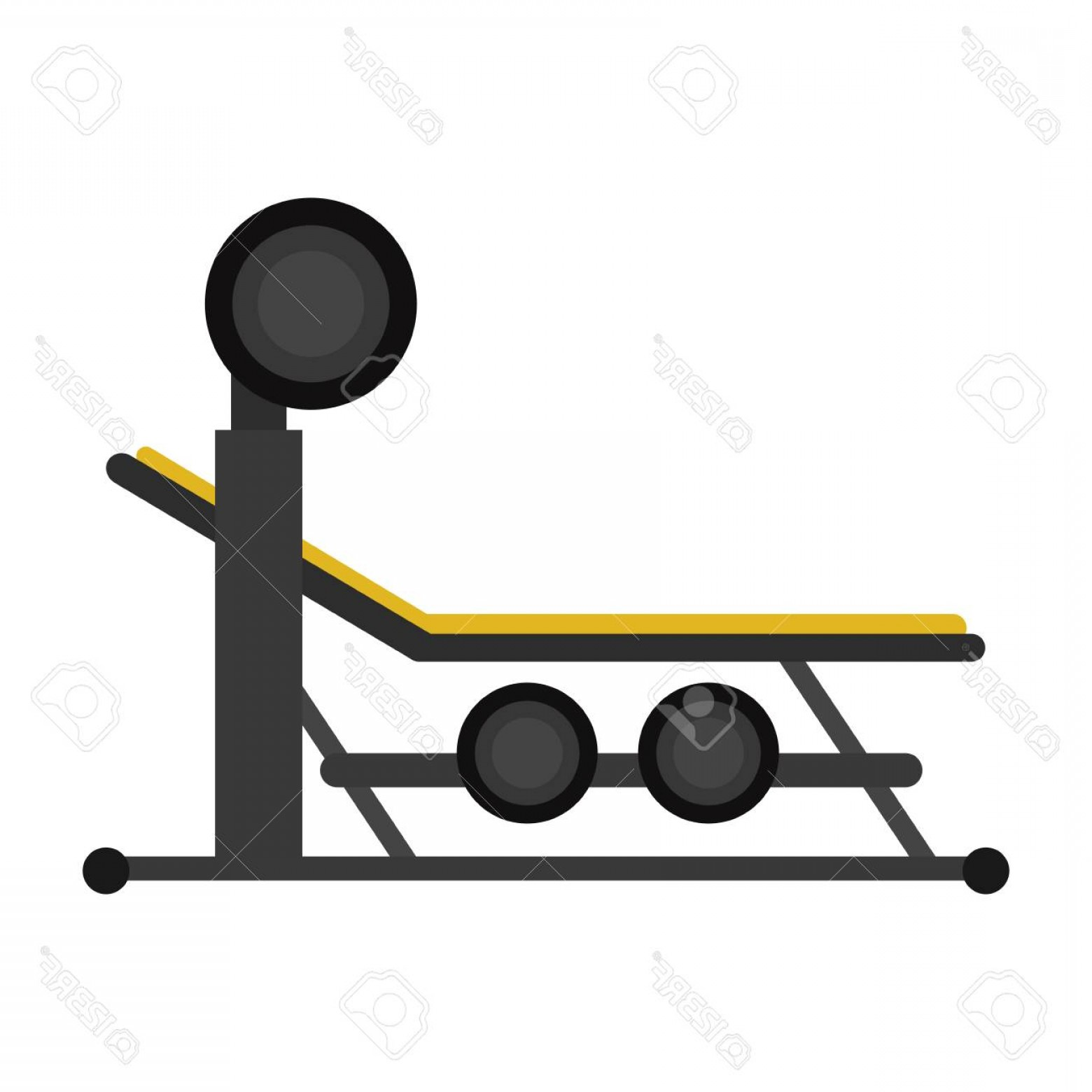 Vector Barbell Press: Photostock Vector Brench Press With Weight Barbell Sport Vector Illustration Eps