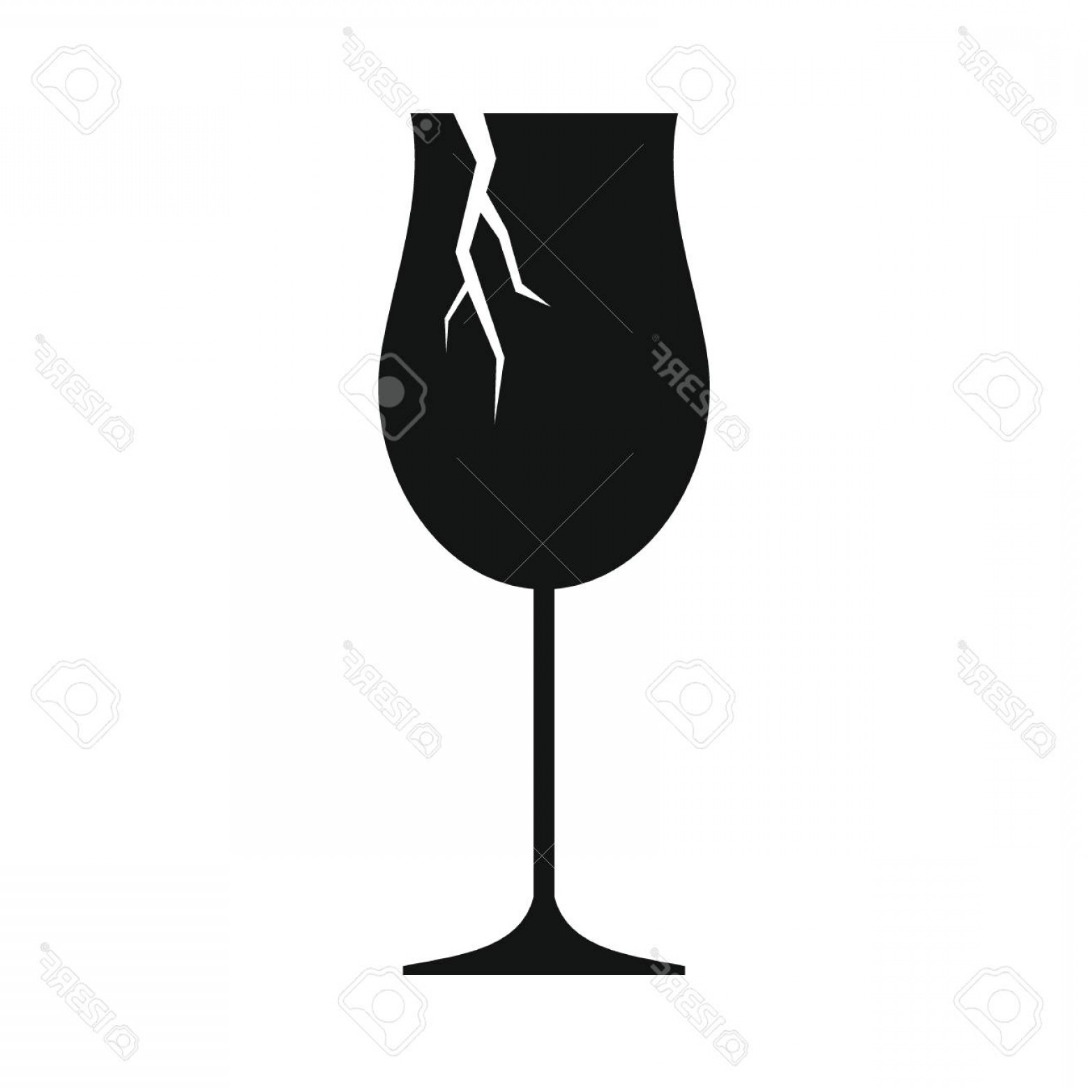 Single Wine Glass Silhouette Vector: Photostock Vector Broken Wine Glass Icon Silhouette Illustration Of Broken Wine Glass Vector Icon For Web