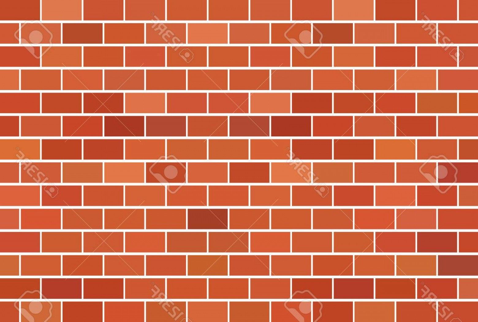 Wall Background Vector: Photostock Vector Brown Brick Wall Background Vector