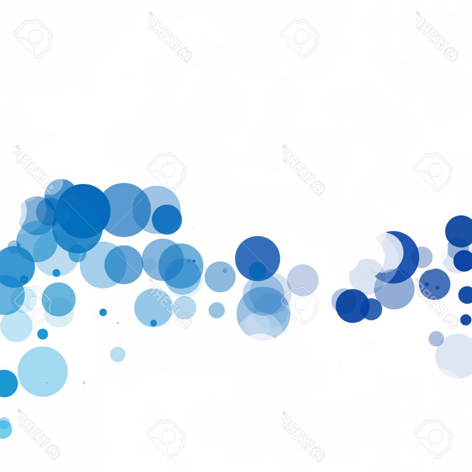 Vector Bubbles Circle: Photostock Vector Bubbles Circle Dots Unique Blue Bright Vector Background
