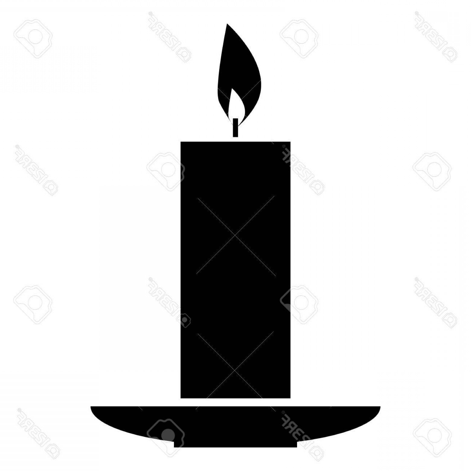 Candle Vector Black: Photostock Vector Burning Candle Icon Simple Illustration Of Burning Candle Vector Icon For Web