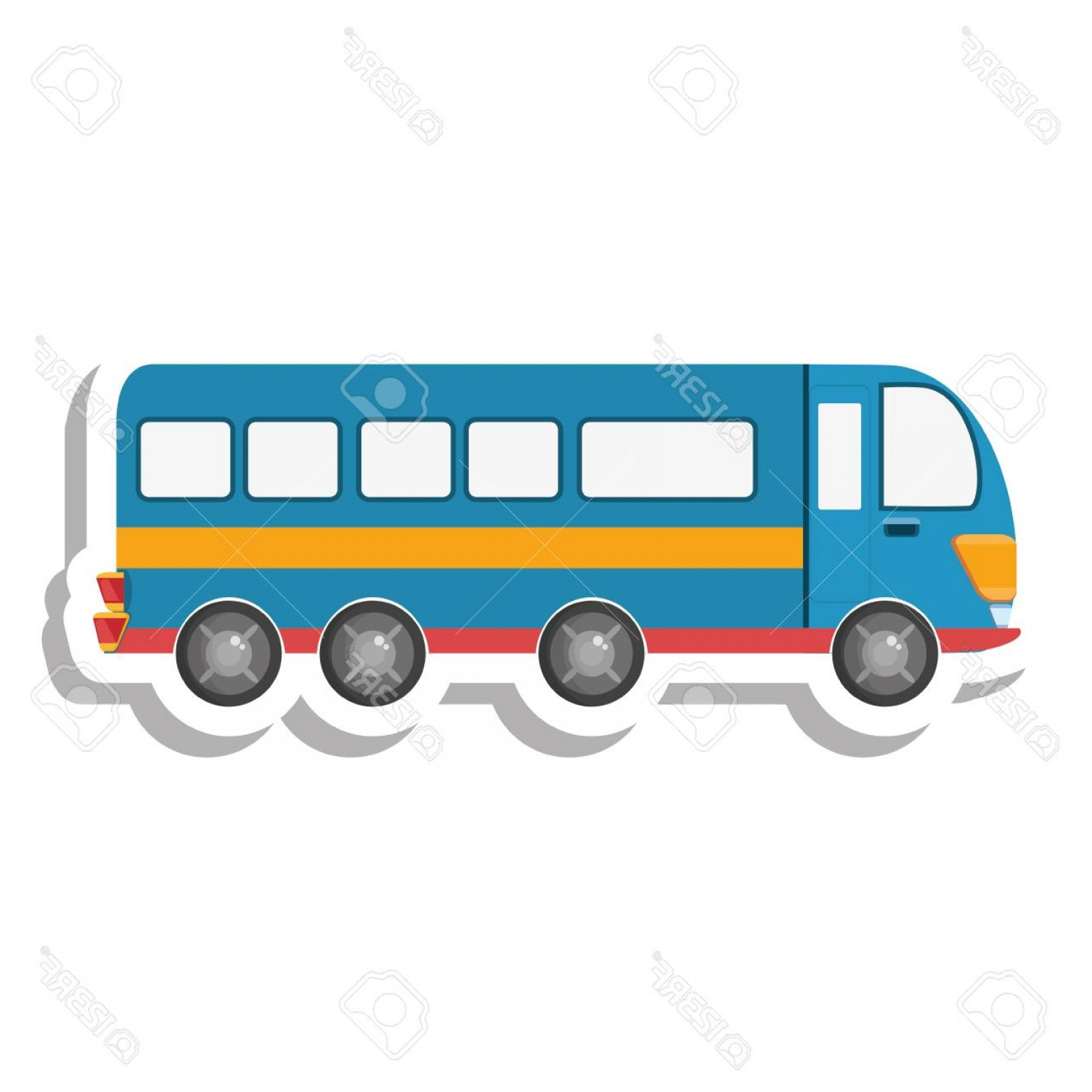 Public Bus Icon Vector: Photostock Vector Bus Public Transport Isolated Icon Vector Illustration Design