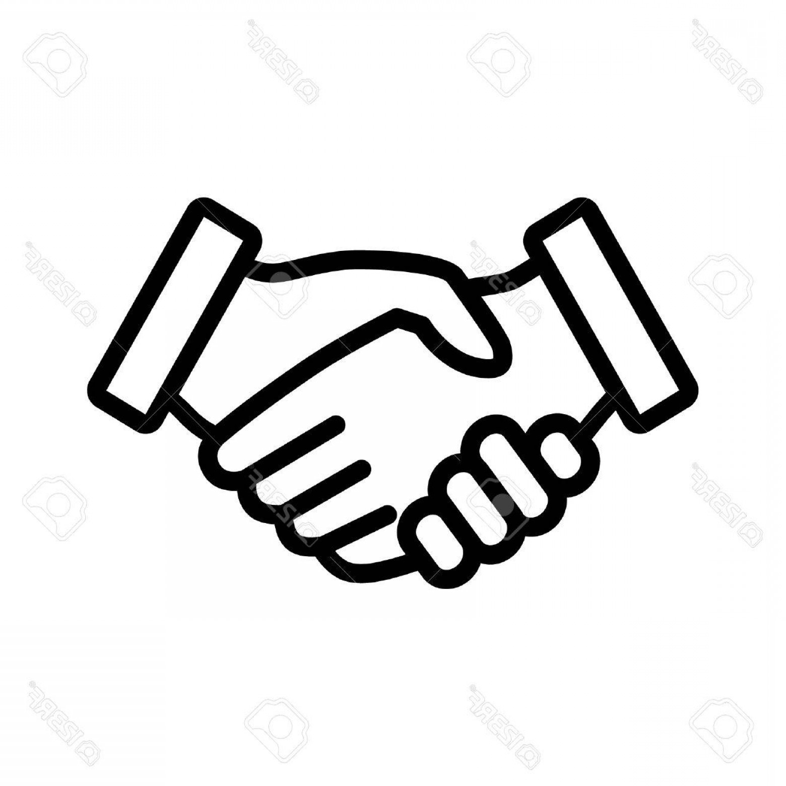 Handshake Clip Art Vector: Photostock Vector Business Agreement Handshake Line Art Icon For Apps And Websites