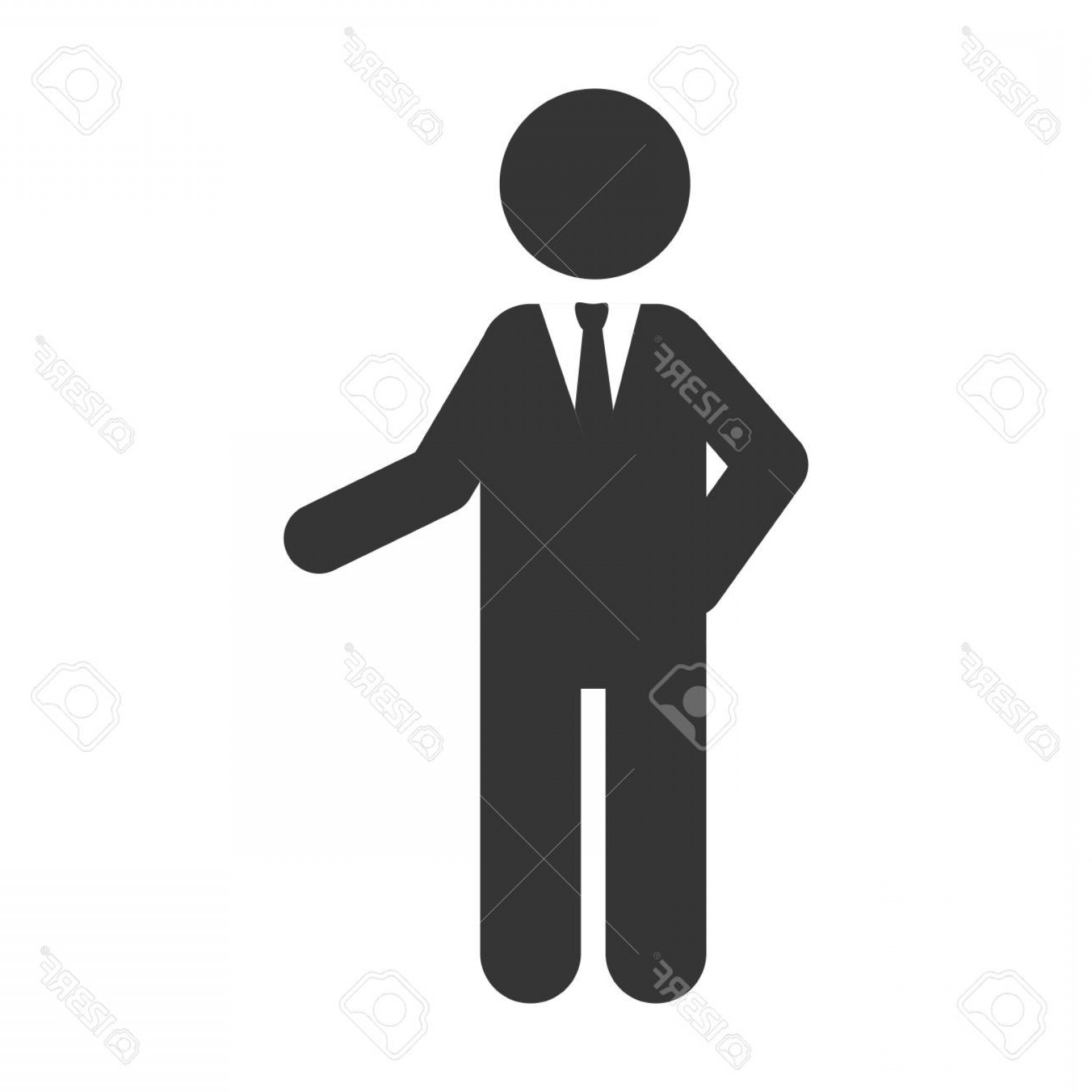 Vector Executive: Photostock Vector Business Businessperson Man Suit Silhouette Tie Executive Vector Graphic Isolated And Flat Illustrat