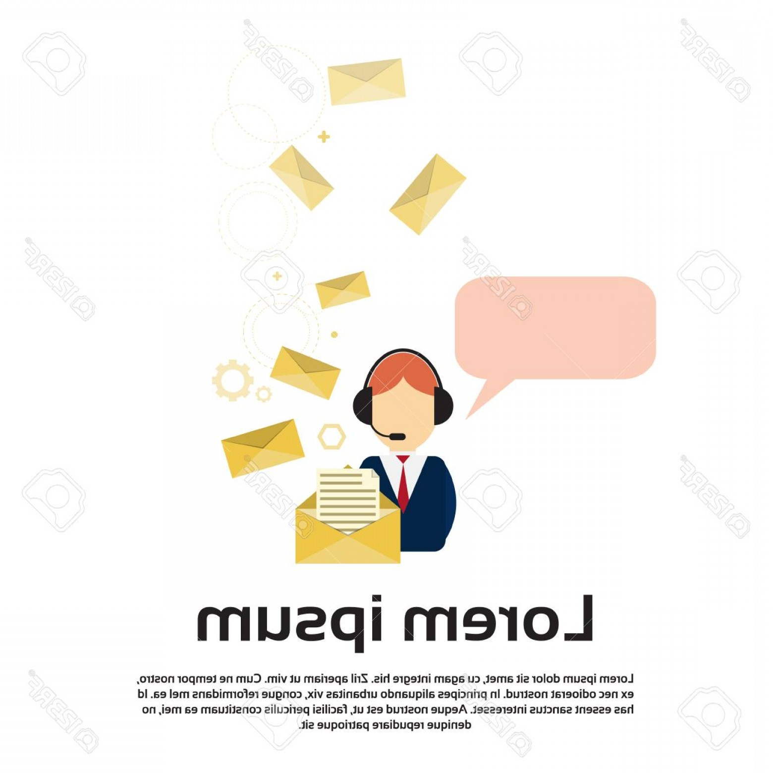 Vector Consulting Service: Photostock Vector Business Man Consulting Service Support Chat Communication Social Network Flat Vector Illustration