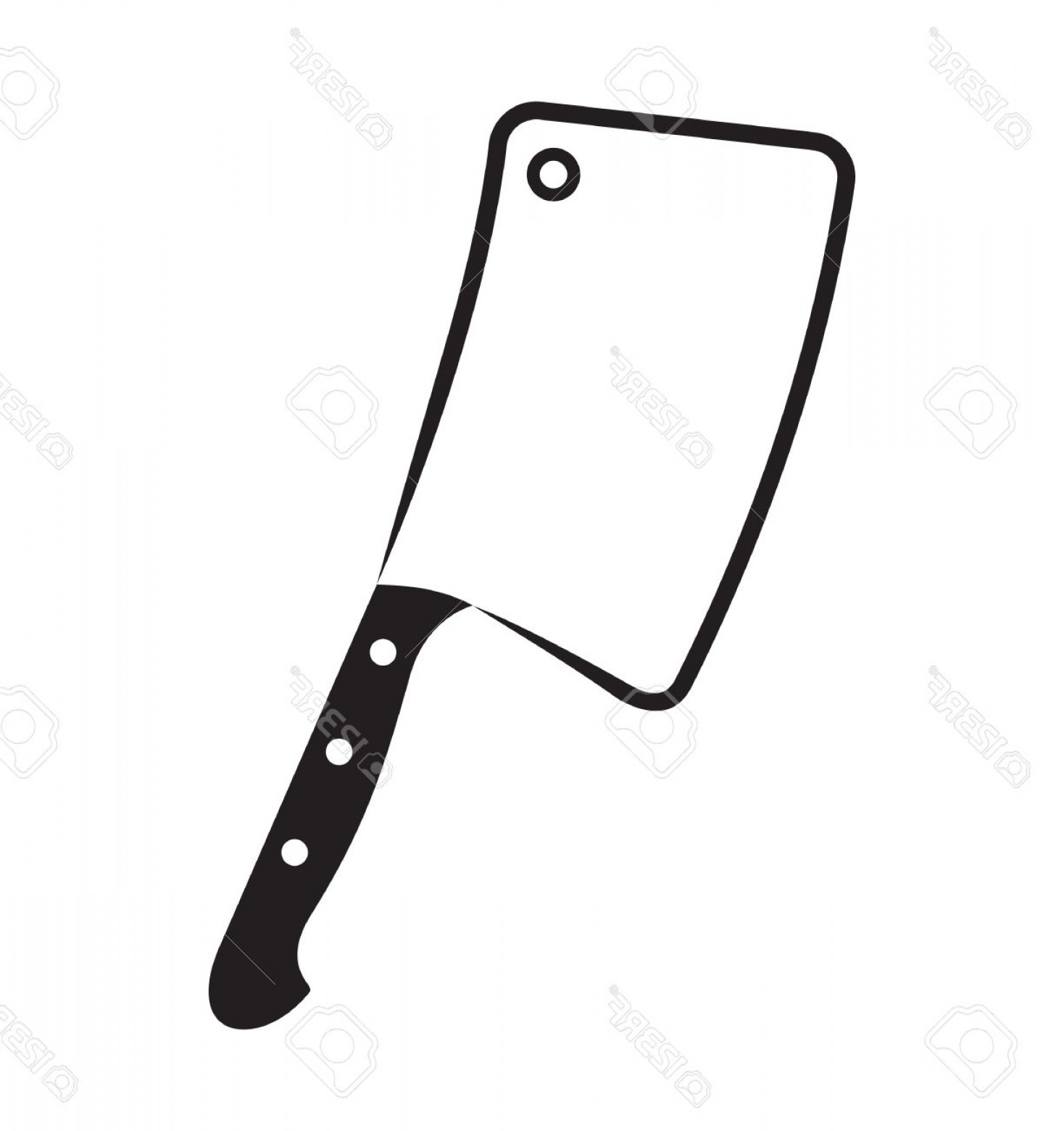 Butcher Knife Vector: Photostock Vector Butcher Axe Vector Icon