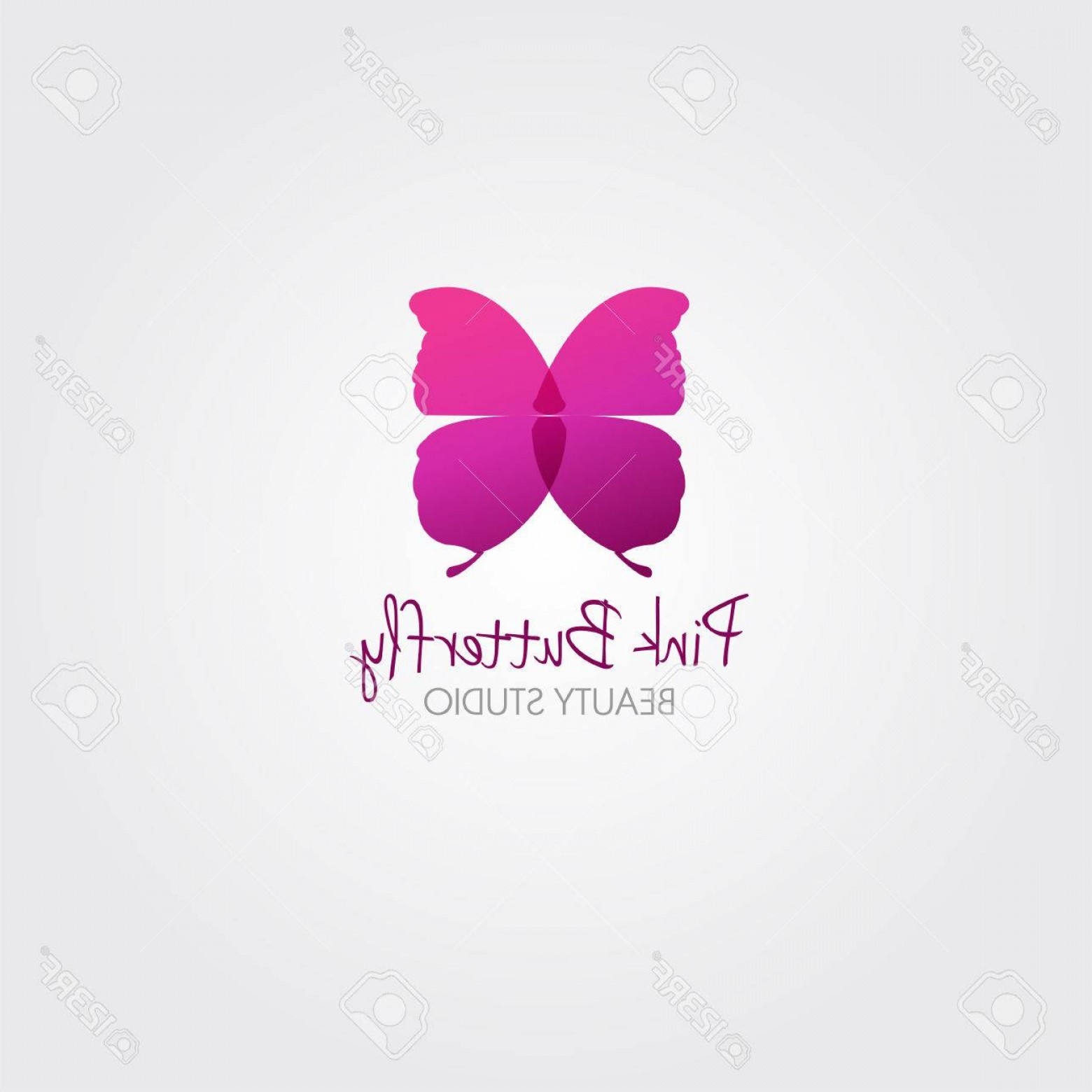 Butterfly Vector Logo: Photostock Vector Butterfly Vector Design Concept For Beauty Salon Or Studio Vector Logo Template