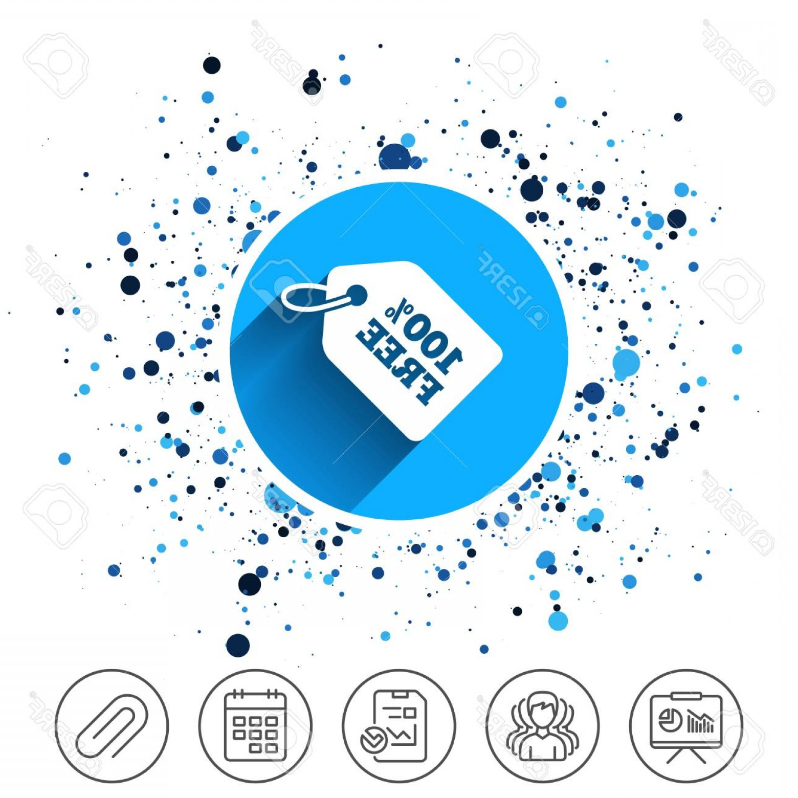 Vector Freebies: Photostock Vector Button On Circles Background Free Tag Icon Freebies Banner Symbol Shopping Special Offer Sign Calend