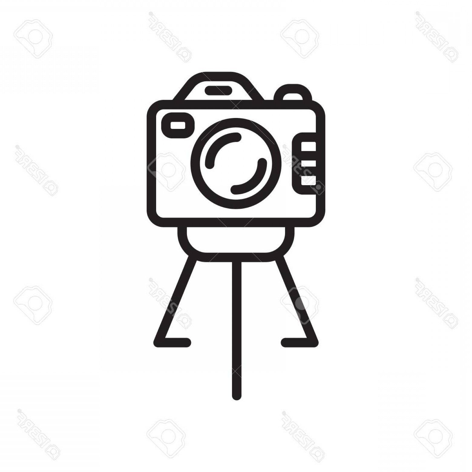 Vector Camera Stand: Photostock Vector Camera Stand Icon Vector Isolated On White Background Camera Stand Transparent Sign Line Or Linear S