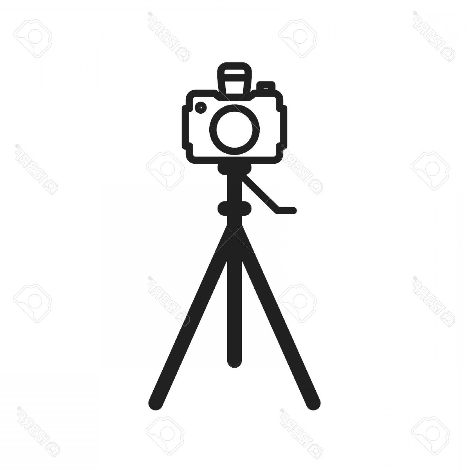 Vector Camera Stand: Photostock Vector Camera Tripod Stand Icon Vector Image Can Also Be Used For Photography Suitable For Use On Web Apps