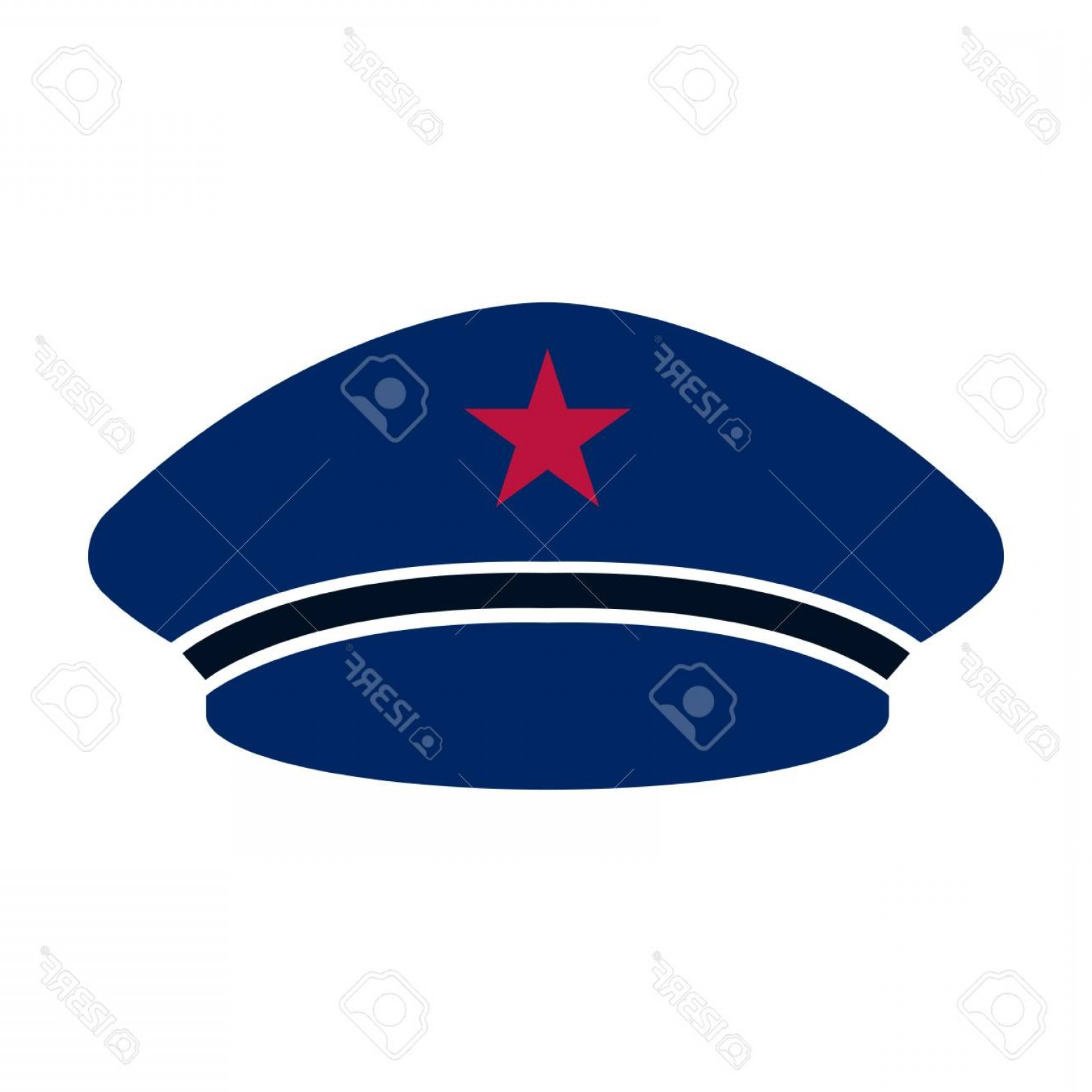 Beret Hat Vector: Photostock Vector Captain Blue Beret Hat Icon