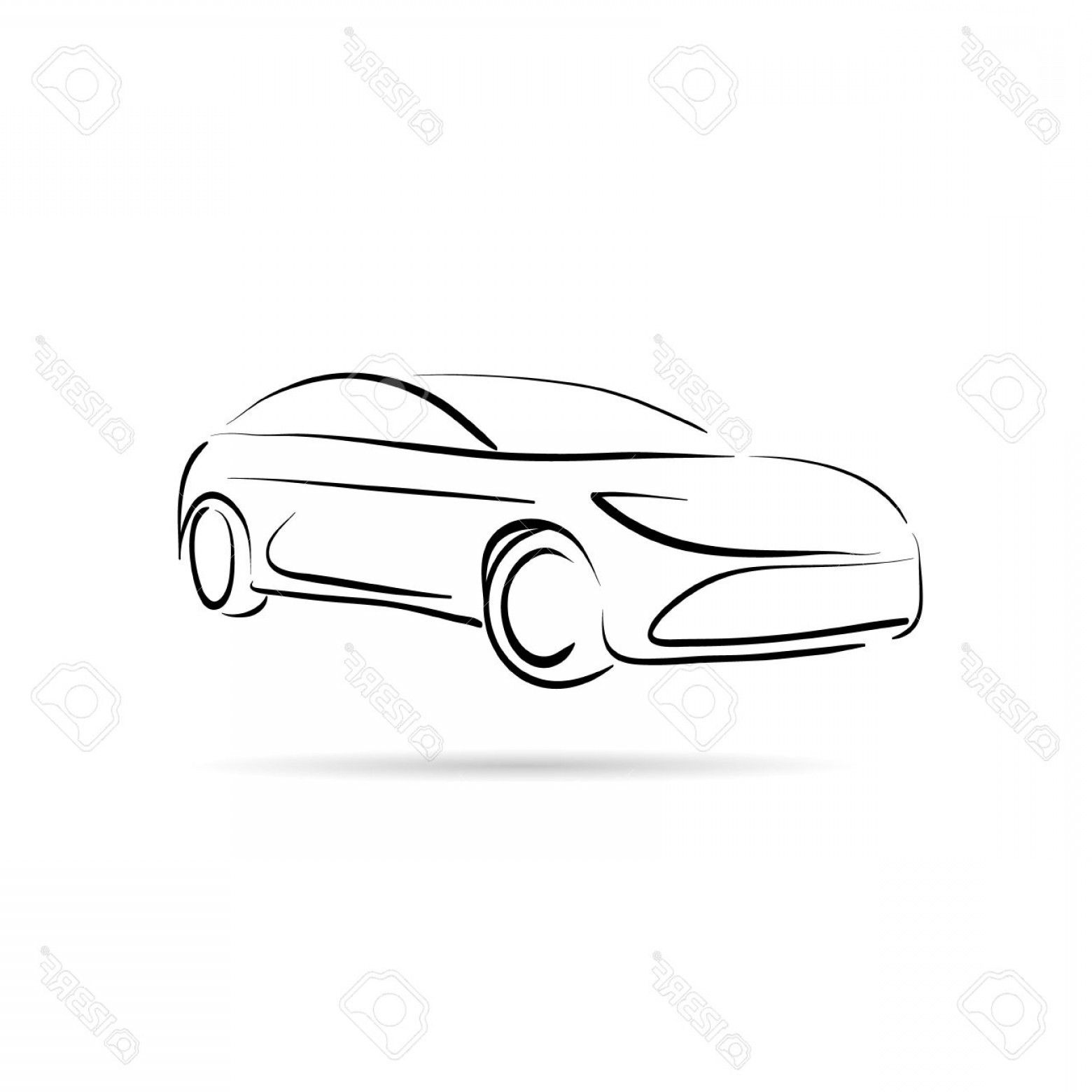 Black Abstract Lines Vector: Photostock Vector Car Abstract Lines Vector Design Concept