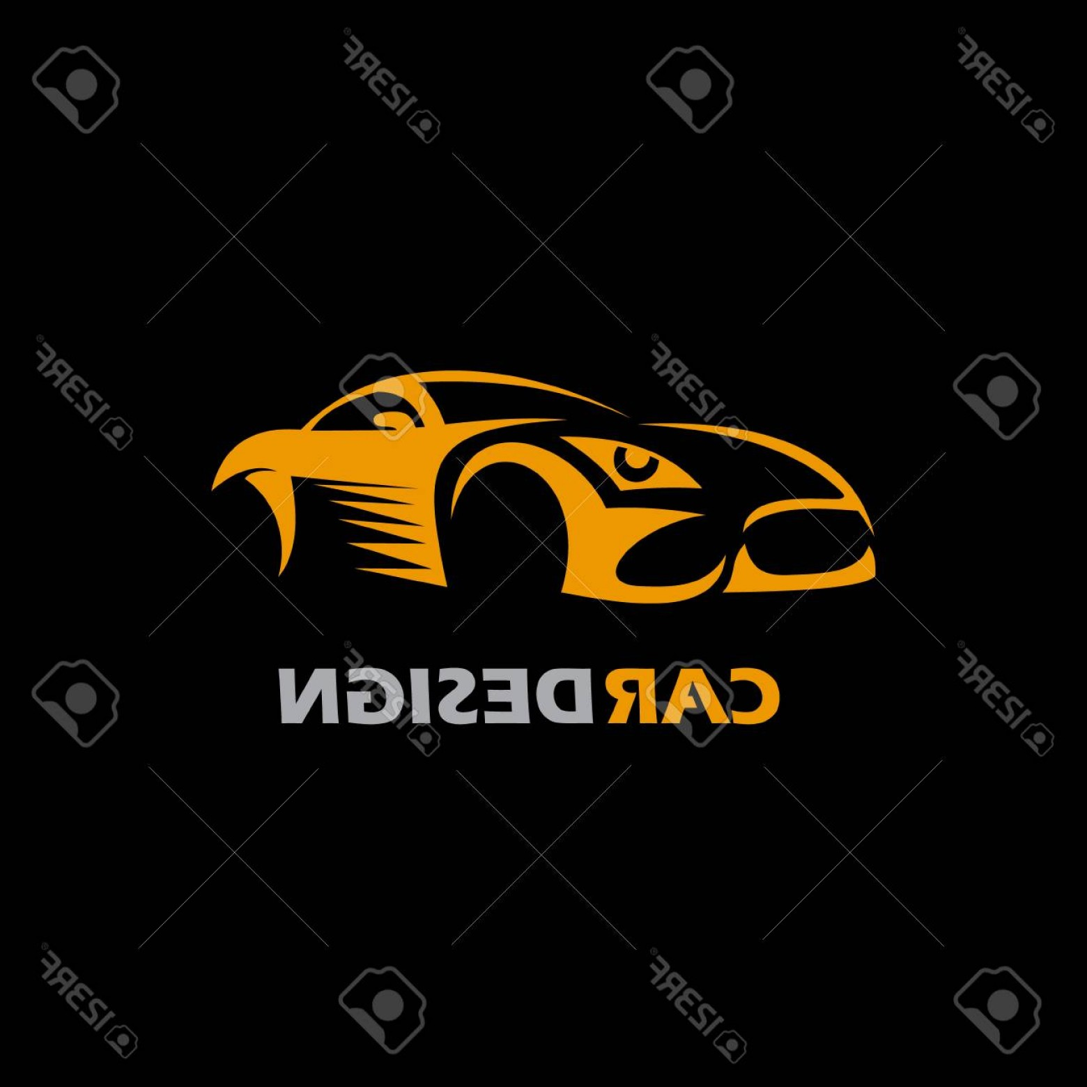 Corvette Stingray Logo Vector: Photostock Vector Car Auto Vector Logo