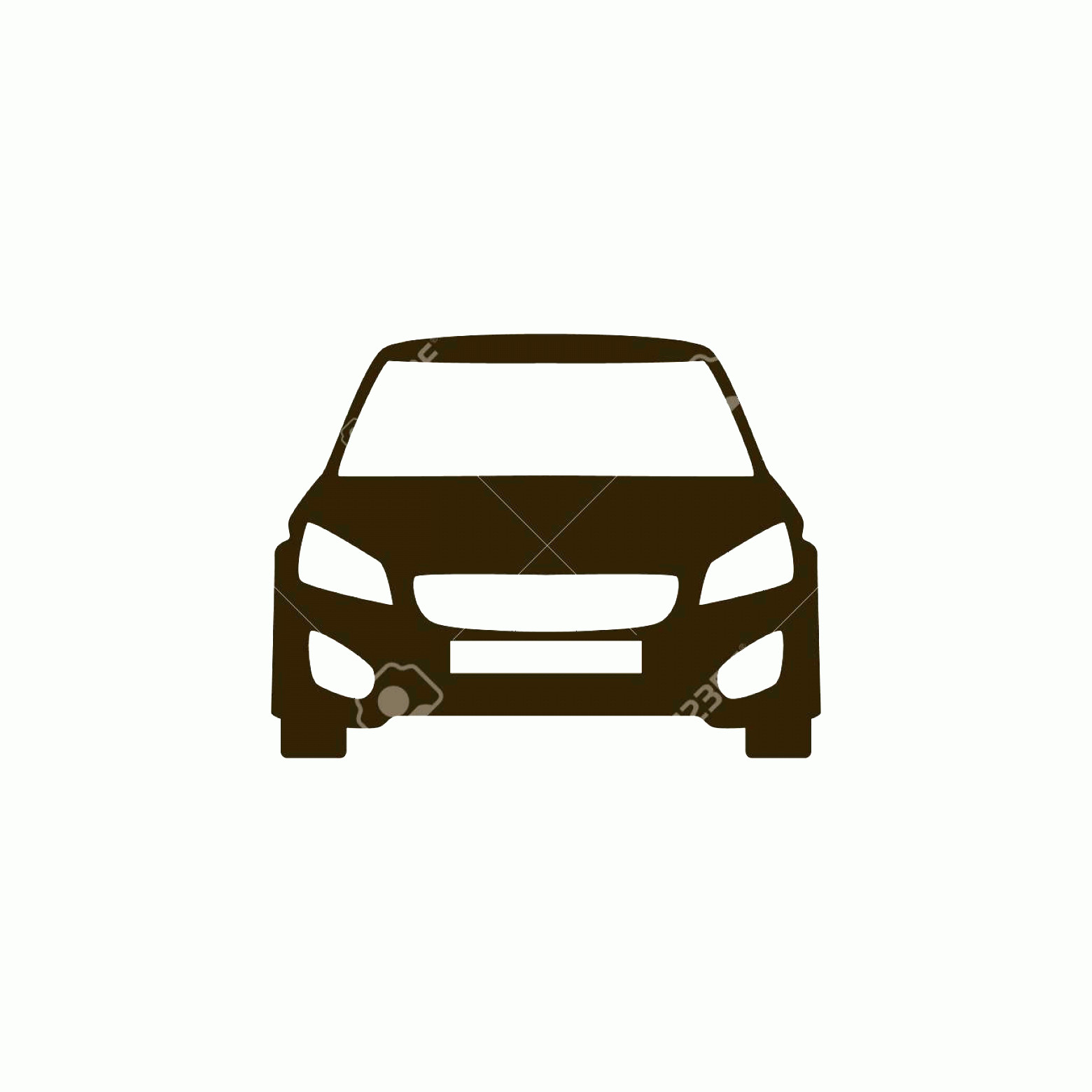 Vector Car: Photostock Vector Car Vector Icon Isolated Simple Front Car Illustration