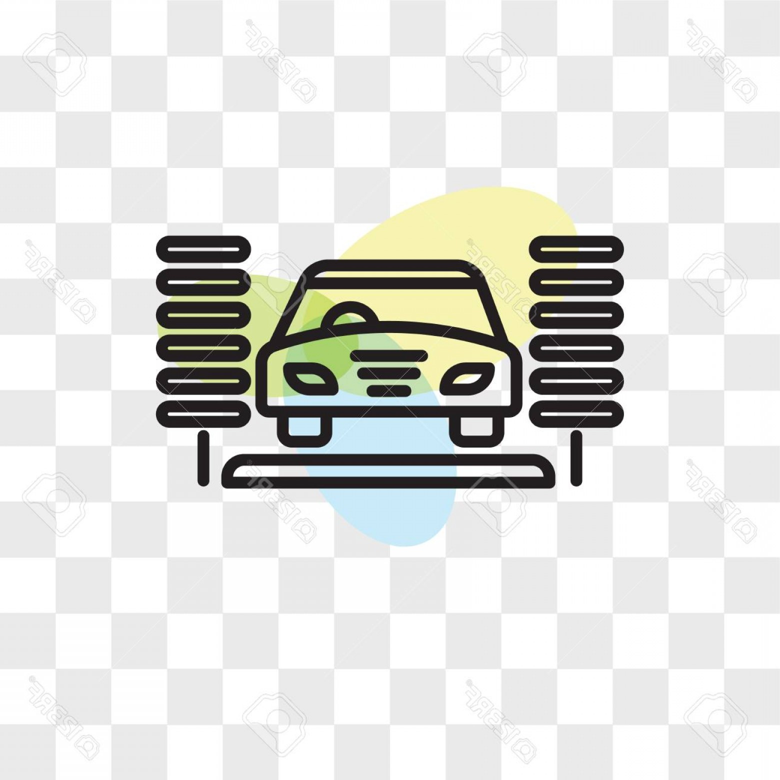 Car Wash Vector Graphics: Photostock Vector Car Wash Vector Icon Isolated On Transparent Background Car Wash Logo Concept